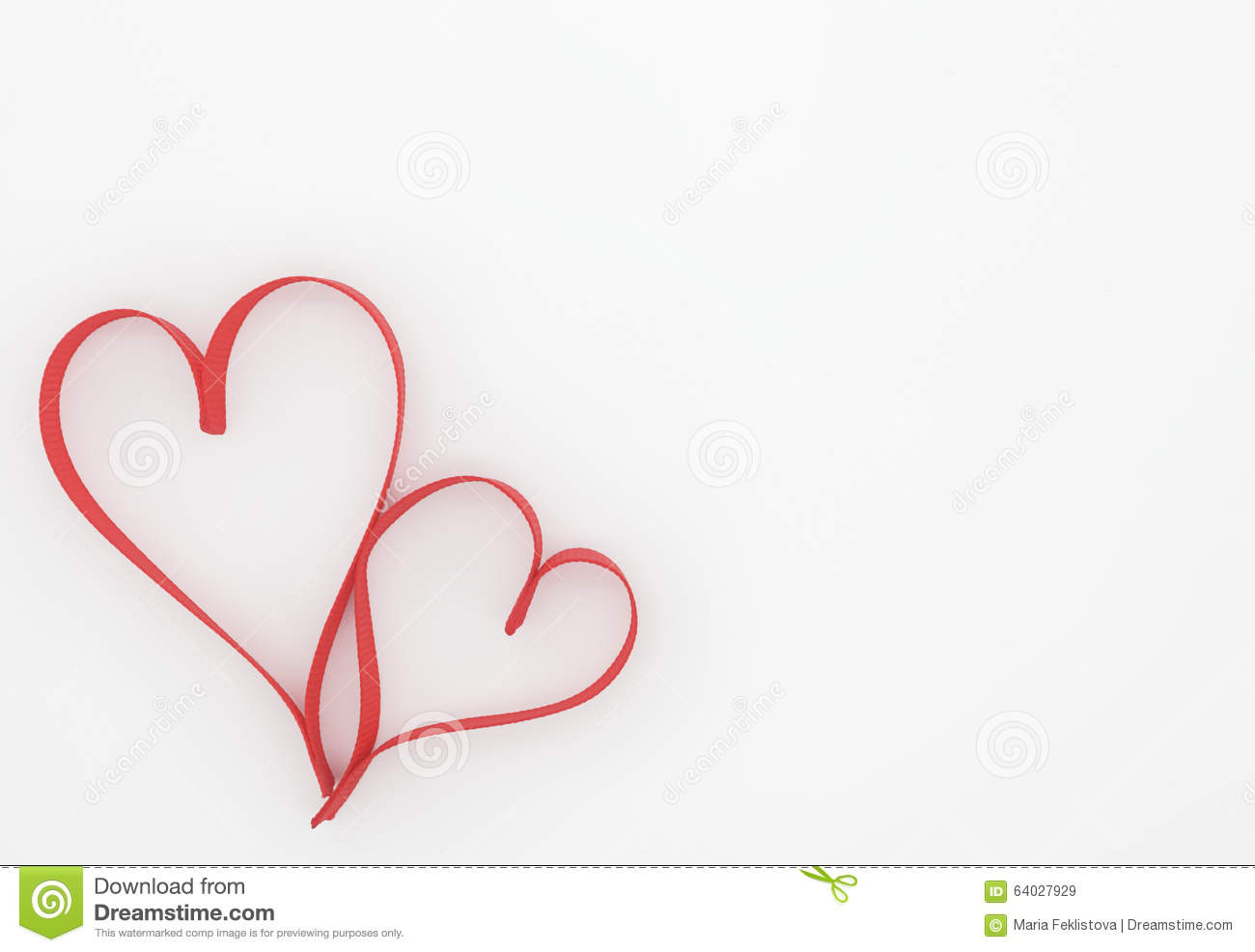 Two Hearts On White Background Stock Image Image Of Emotion