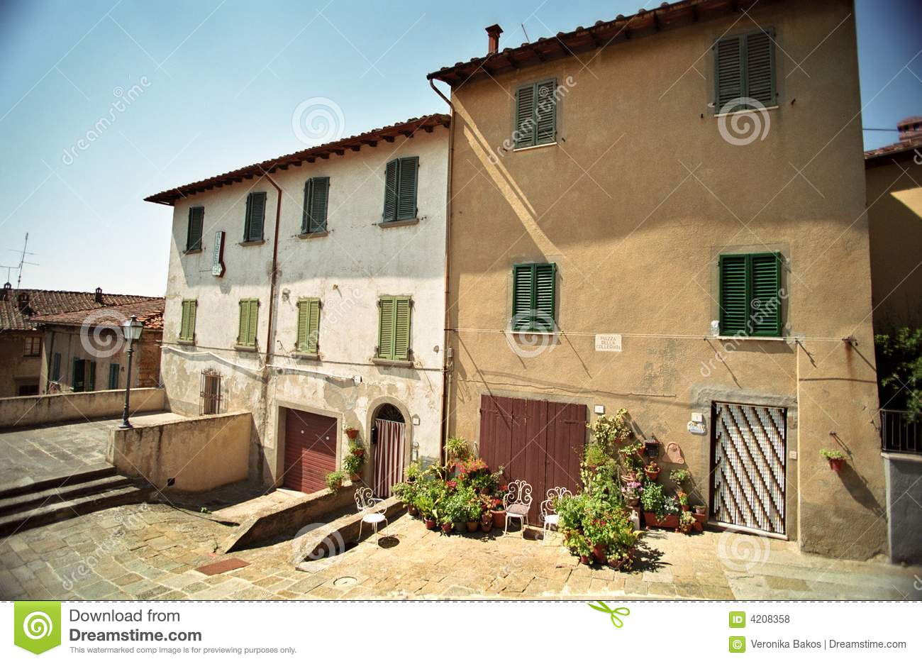 Two houses in italy royalty free stock photos image 4208358 for 1 homes in italy