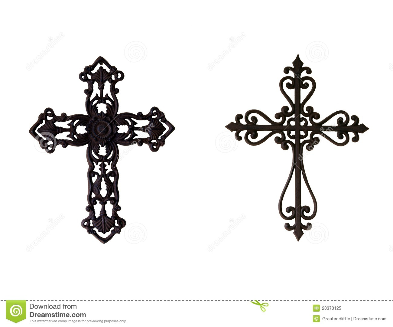 Two Iron Crosses Royalty Free Stock Photo - Image: 20373125