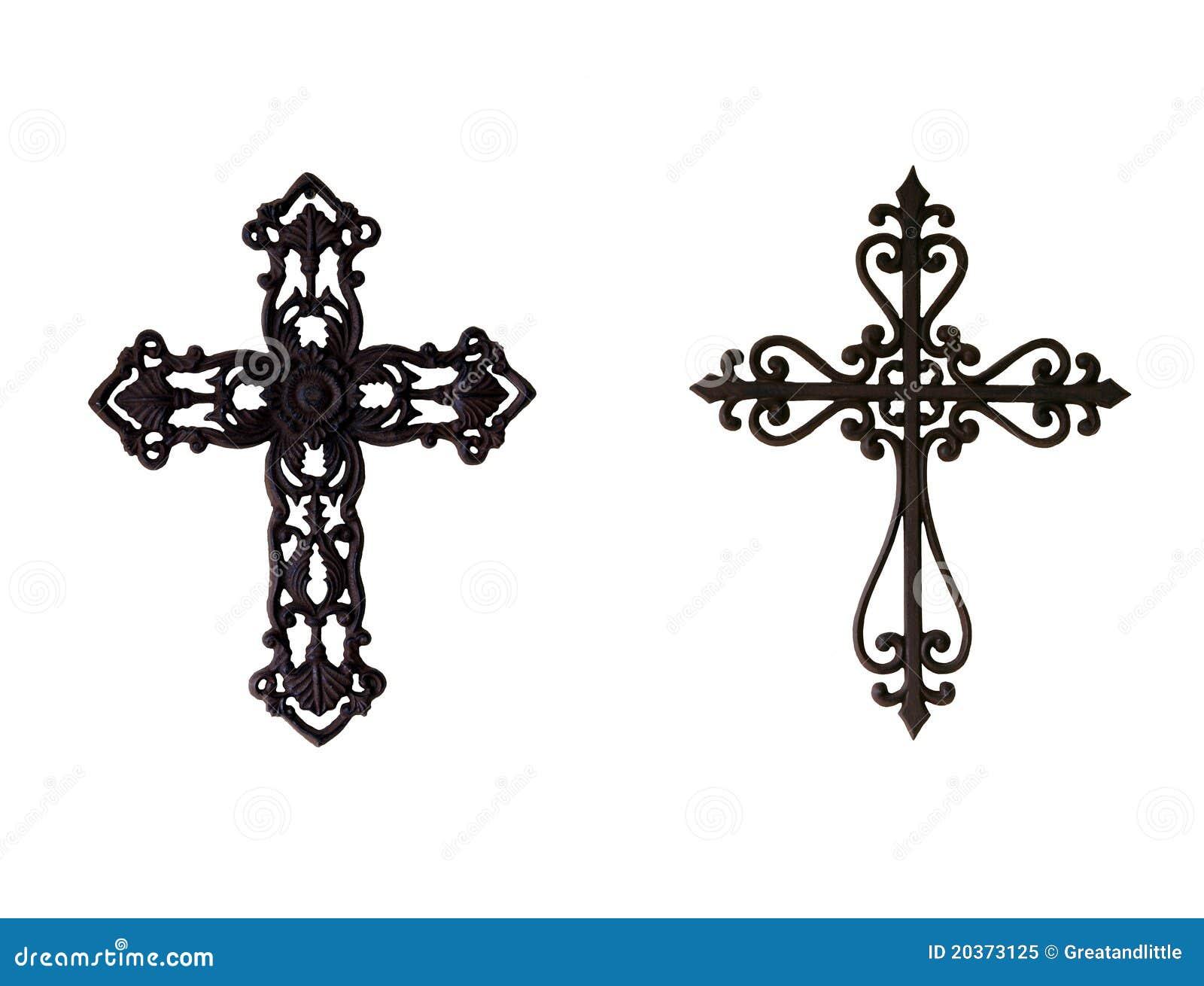 Two Iron Crosses Royalty Free Stock Photo Image 20373125