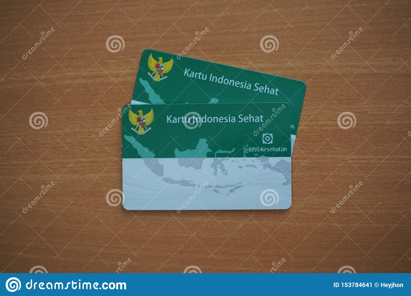 Two Kartu Indonesia Sehat Or KIS (Indonesia Government ...