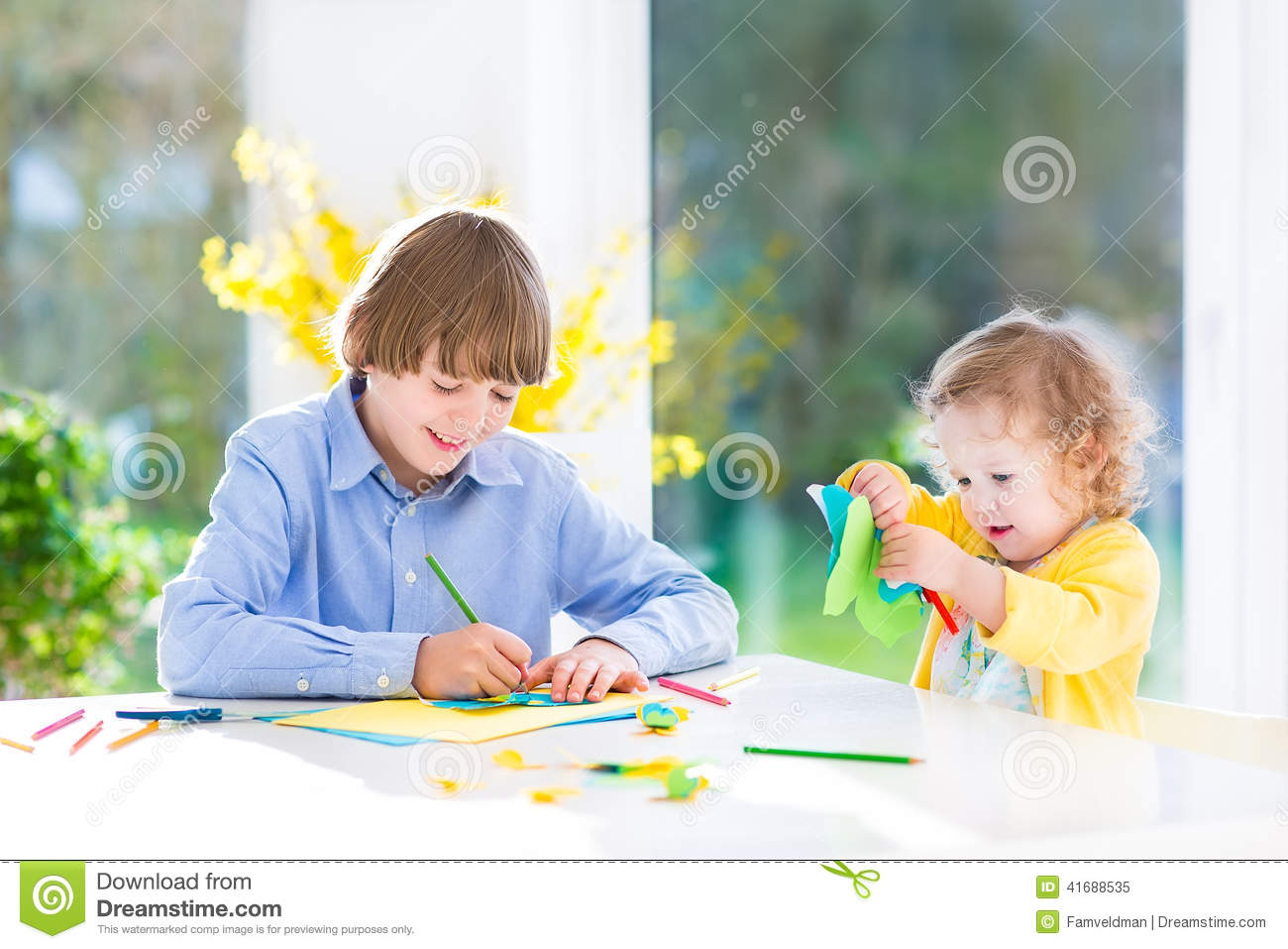 Kids Craft Drawing Family