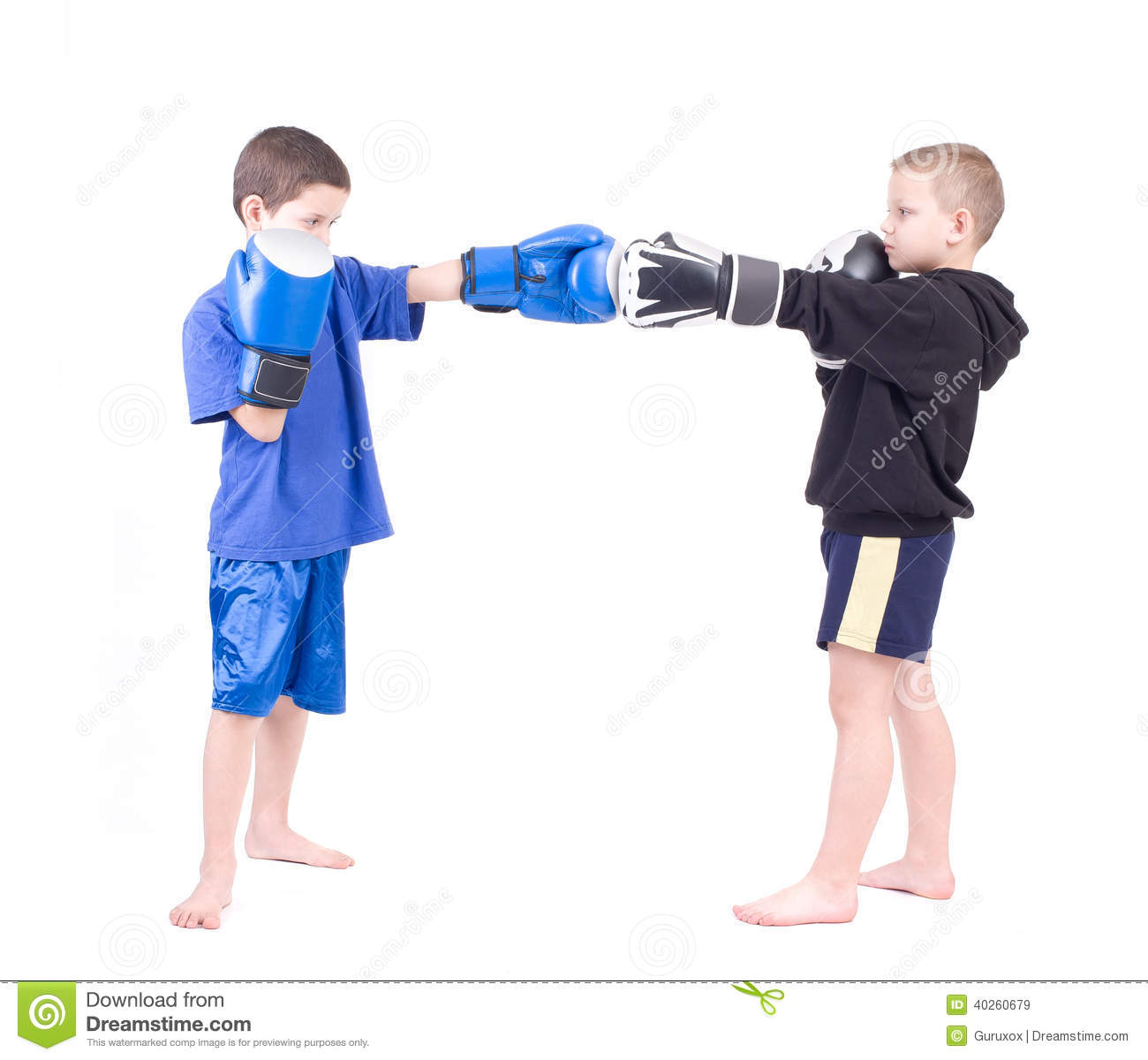 More similar stock images of ` Two kids sparring `