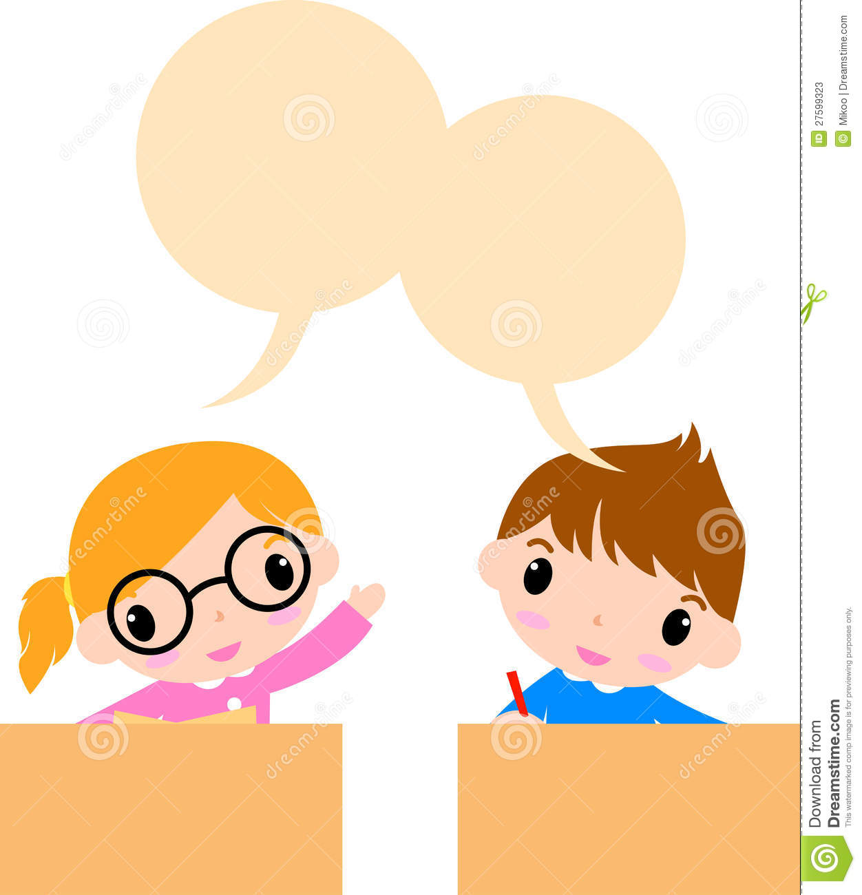 Two Kids Talking Stock Photos - Image: 27599323