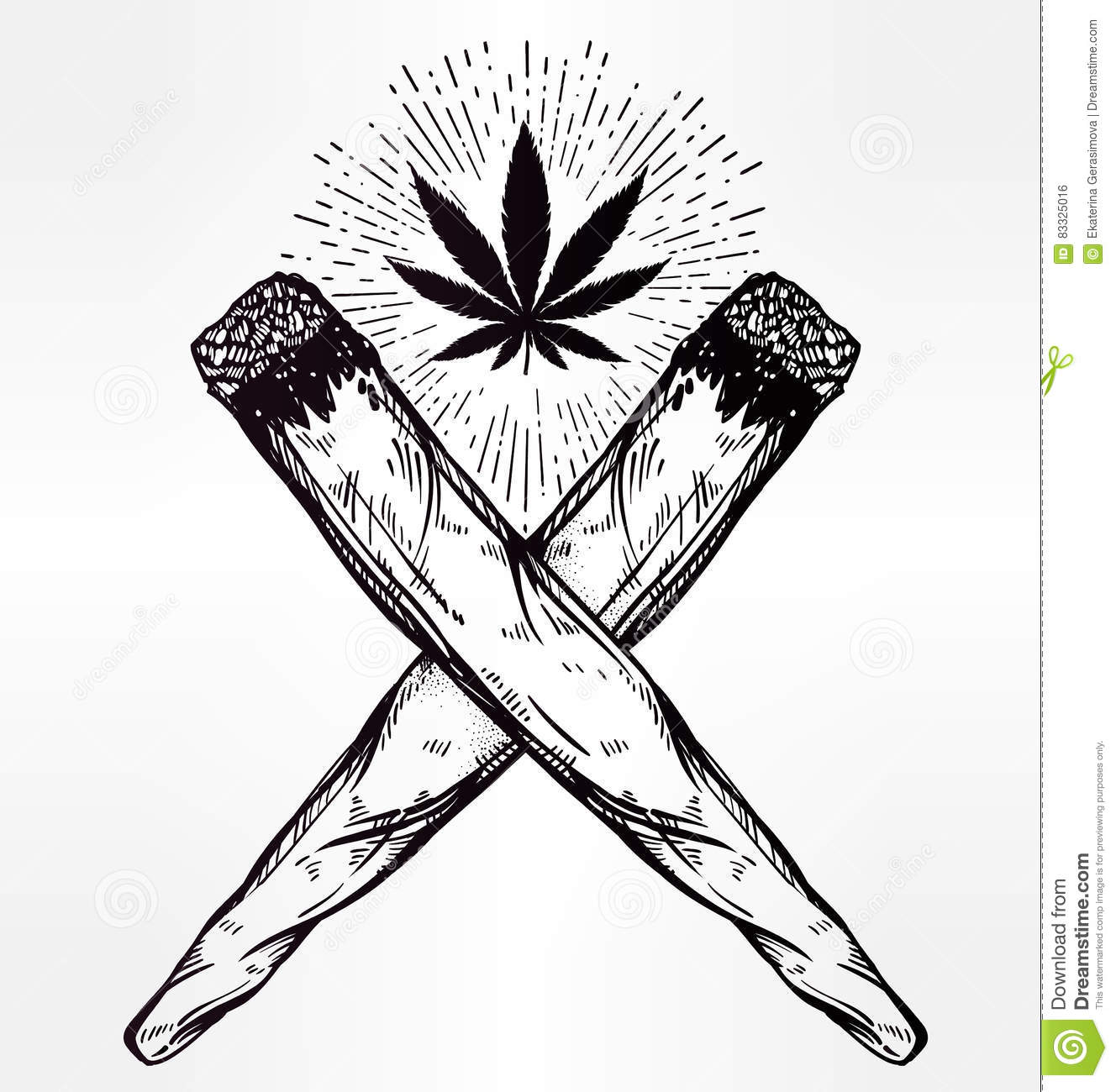decorative cannabis coloring page stock illustration image 67804052