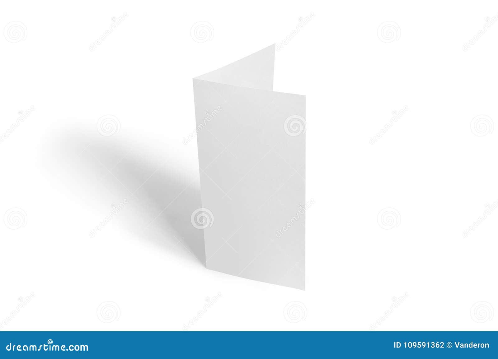 Two Leaf Flyer Mock Up Template Blank Brochure White