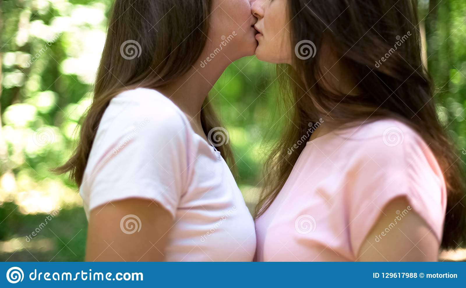 Two Girls French Kissing
