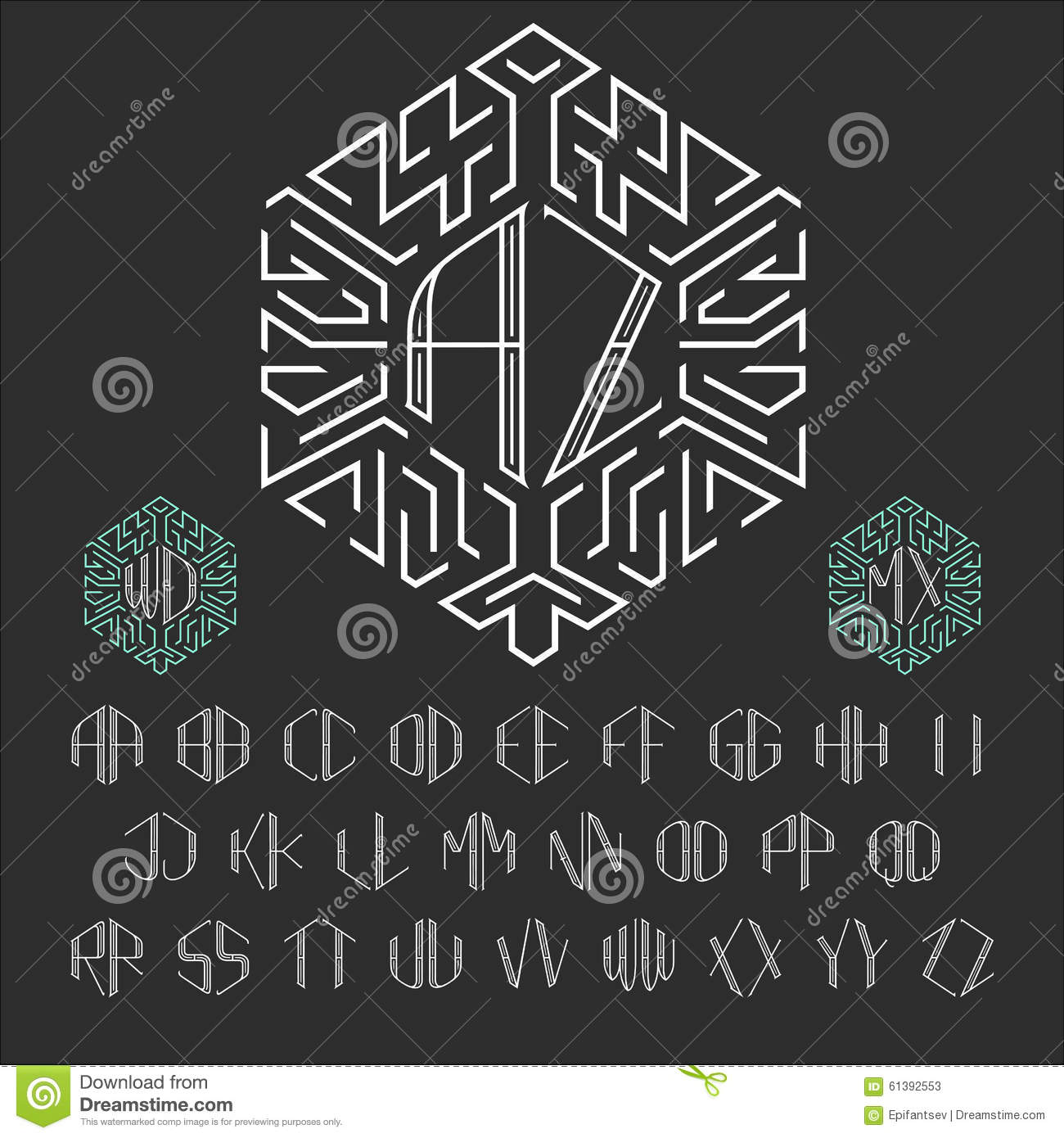 Two Letters Monogram Template. Stock Vector