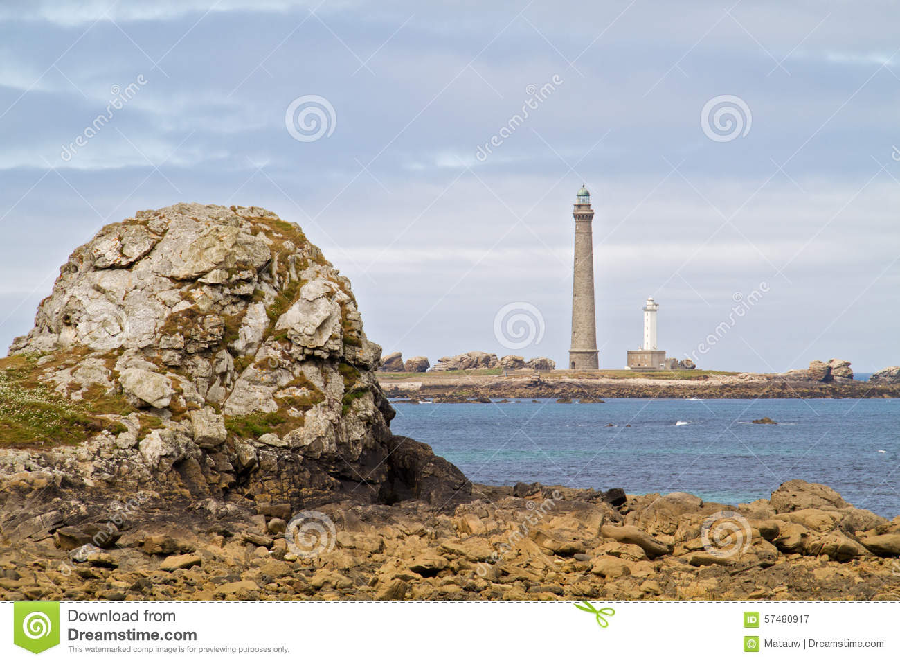 Two Lighthouses Stock Photo Image 57480917