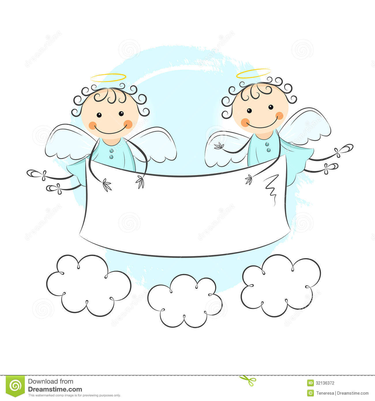 Two Little Angels Stock Photography - Image: 32136372
