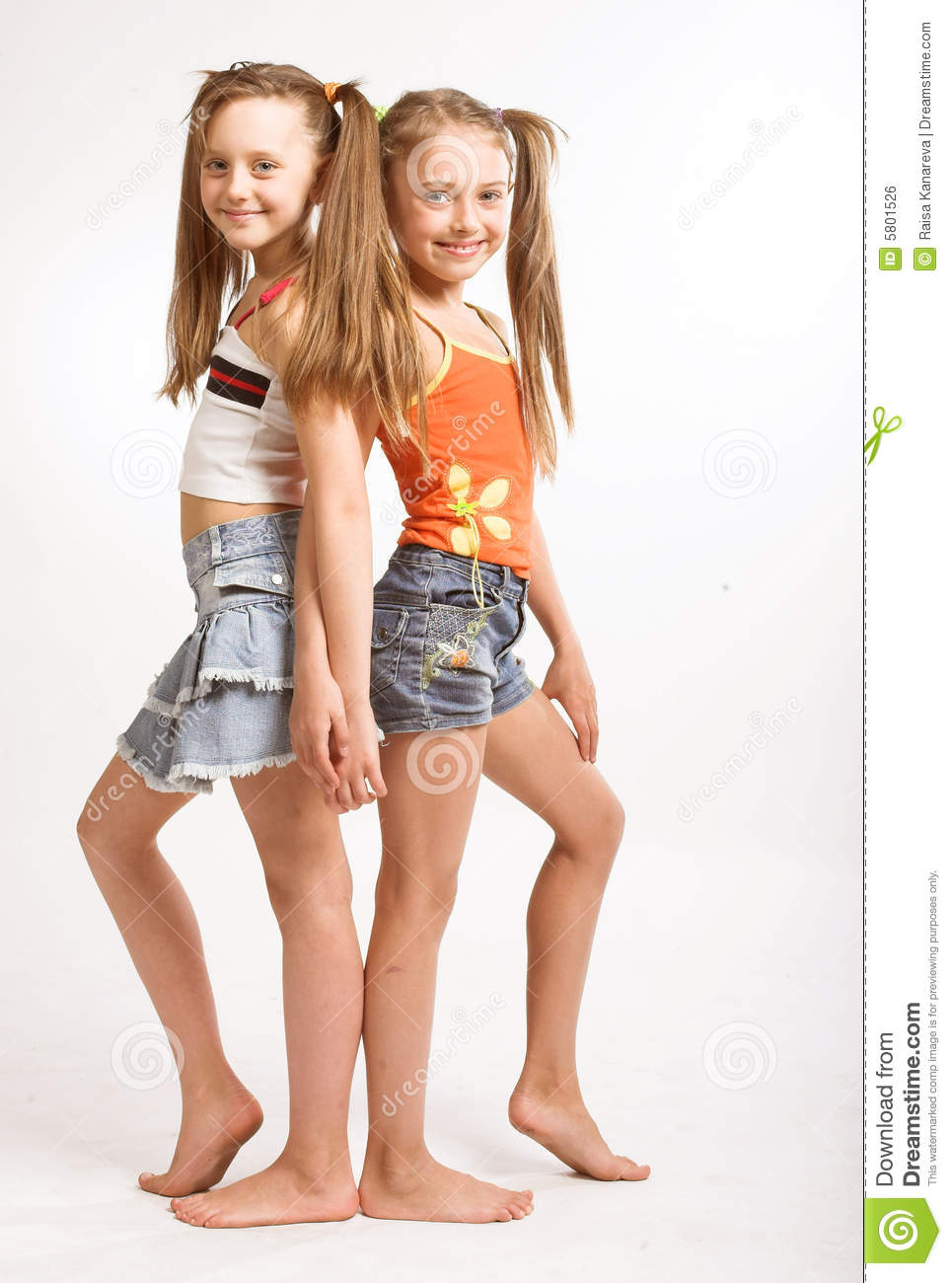 Two little blond girls stock photo. Image of family