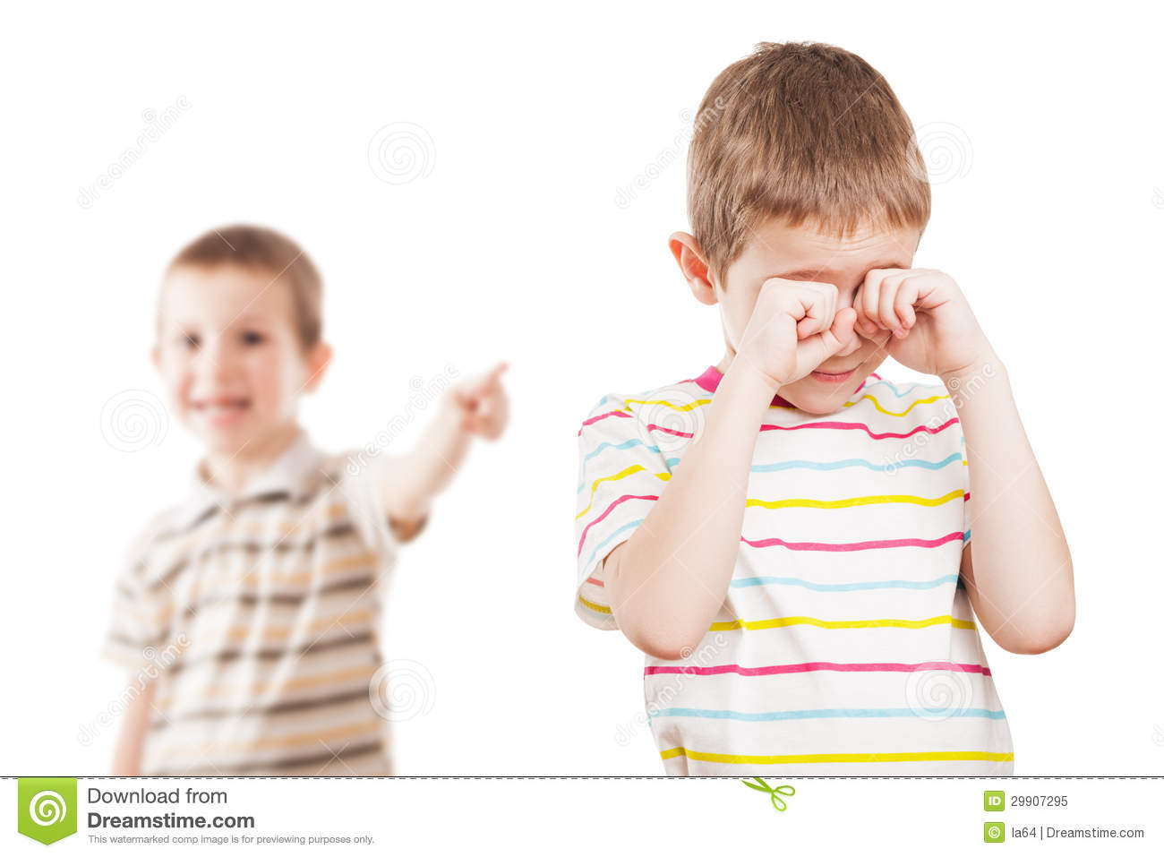 Children In Conflict Quarrel Royalty Free Stock Photo - Image ...