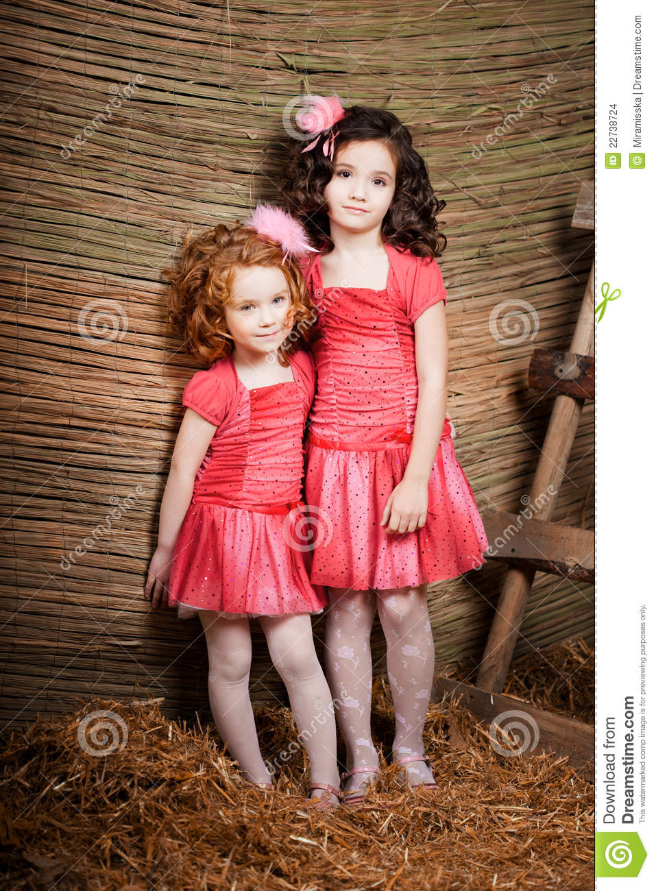 Two Little Girls Cute Kids Stock Photo Image 22738724