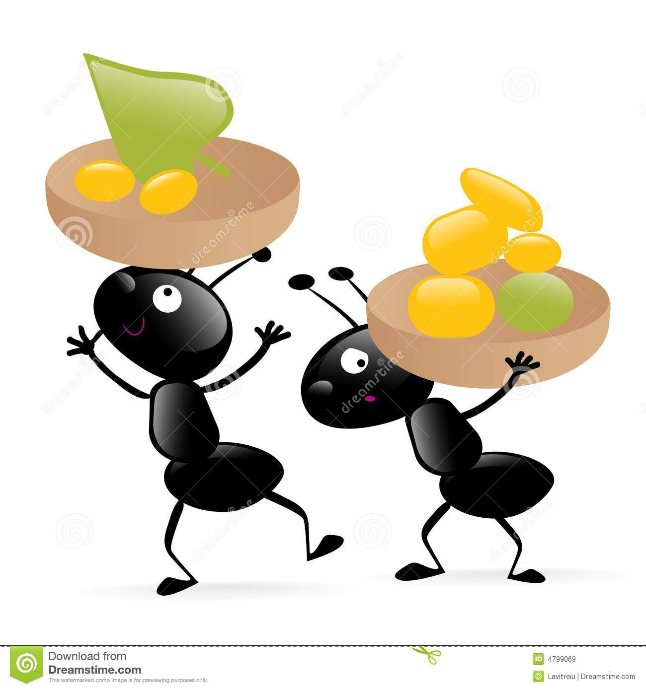 two little hardworking bugs stock vector illustration of cartoon