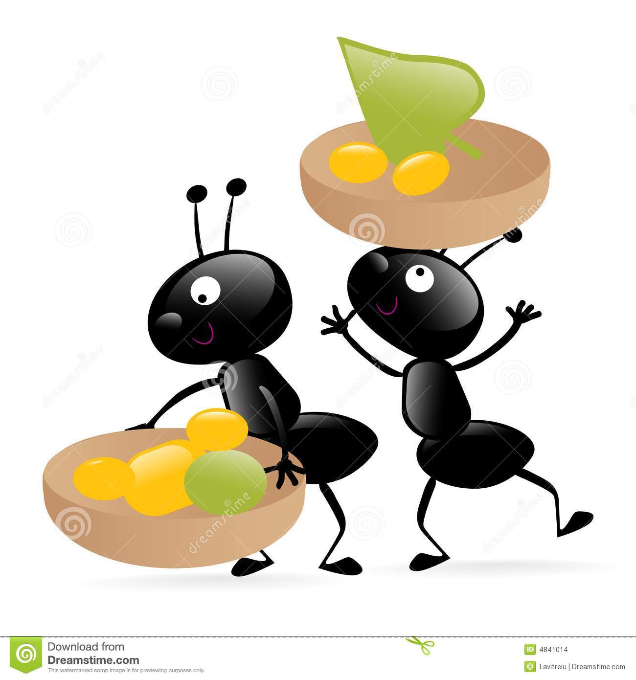 two little hardworking bugs stock vector illustration of humor