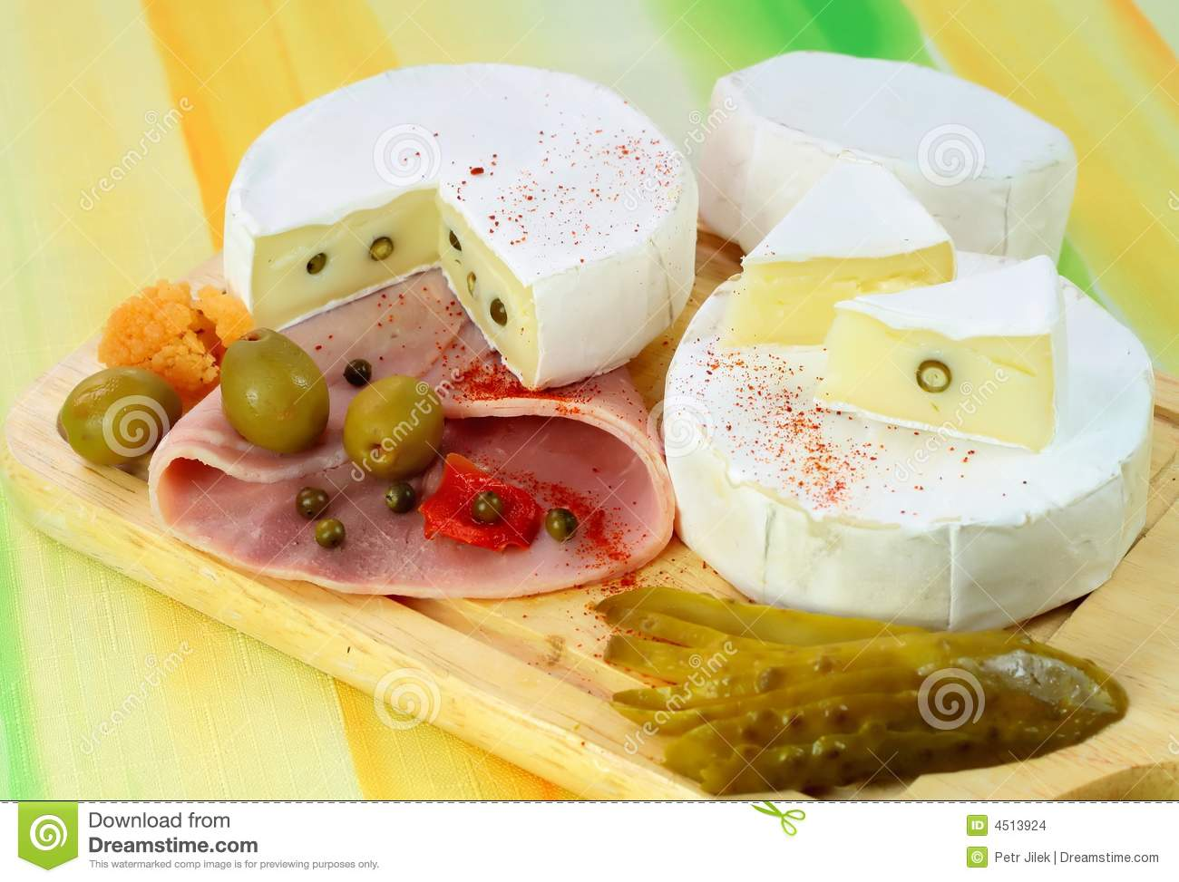 Two Loaf Of French Cheese Camembert Stock Images - Image: 4513924