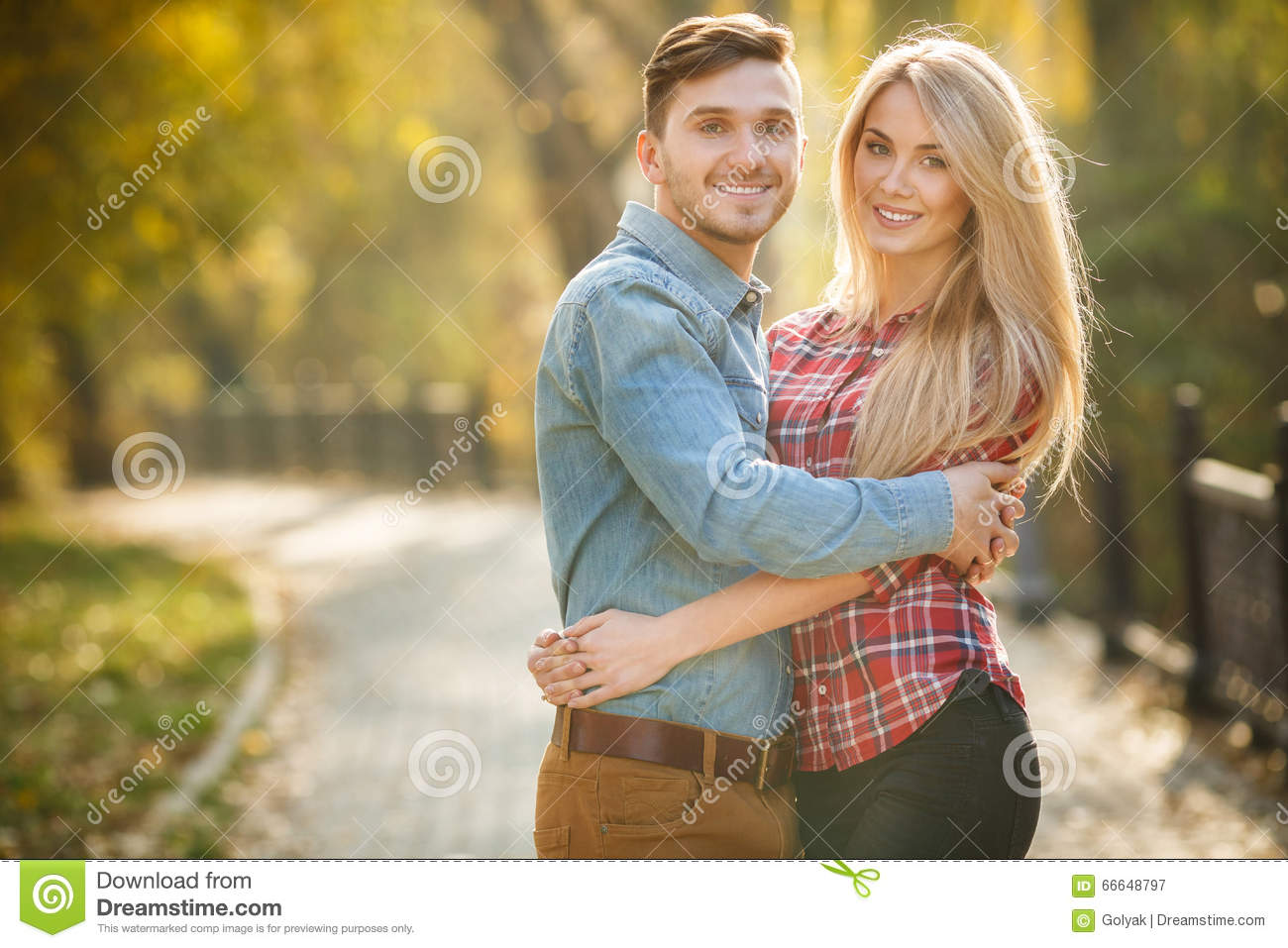 Two lovers in the autumn park stock photo image 66648797 for 2 lovers pic