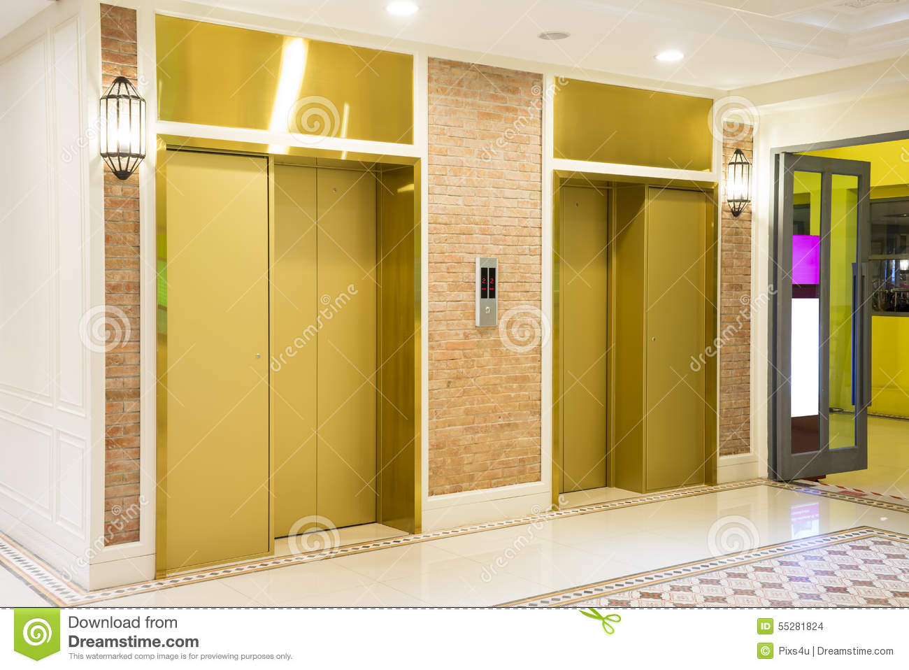 Two Elevator Doors Royalty Free Stock Image