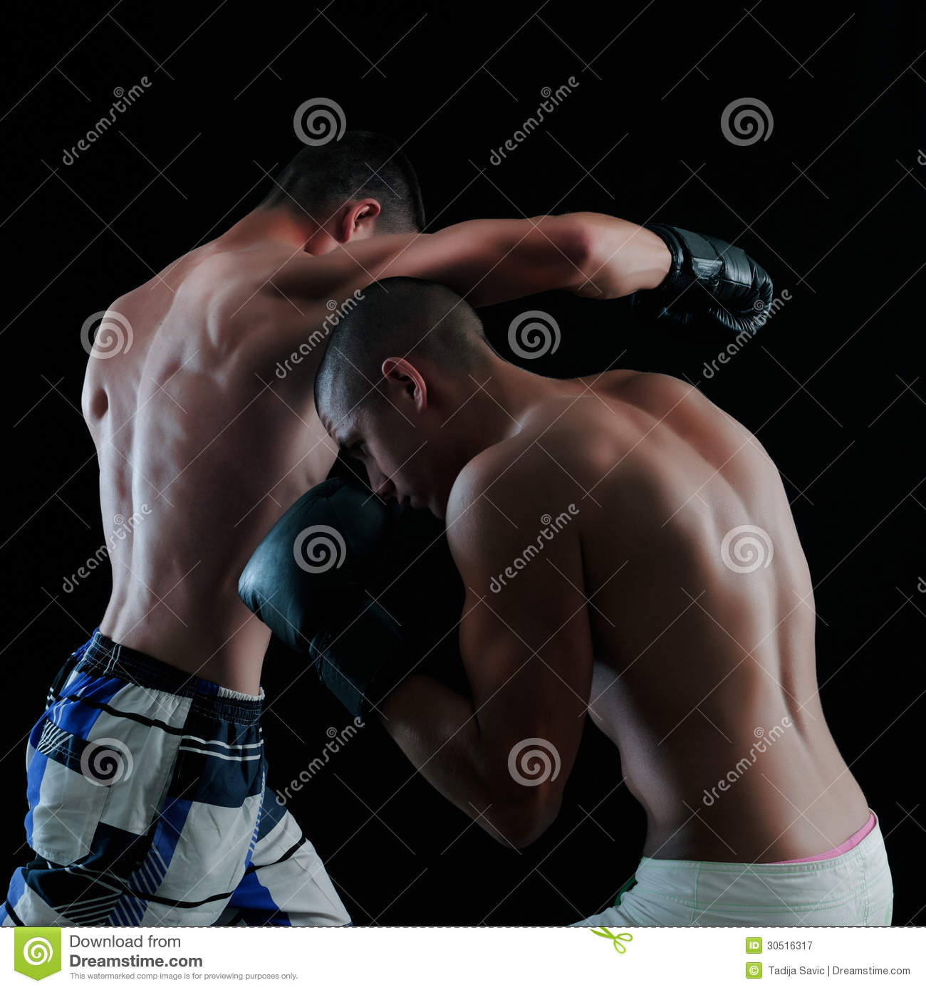 Two Man Boxing Royalty Free Stock Photography