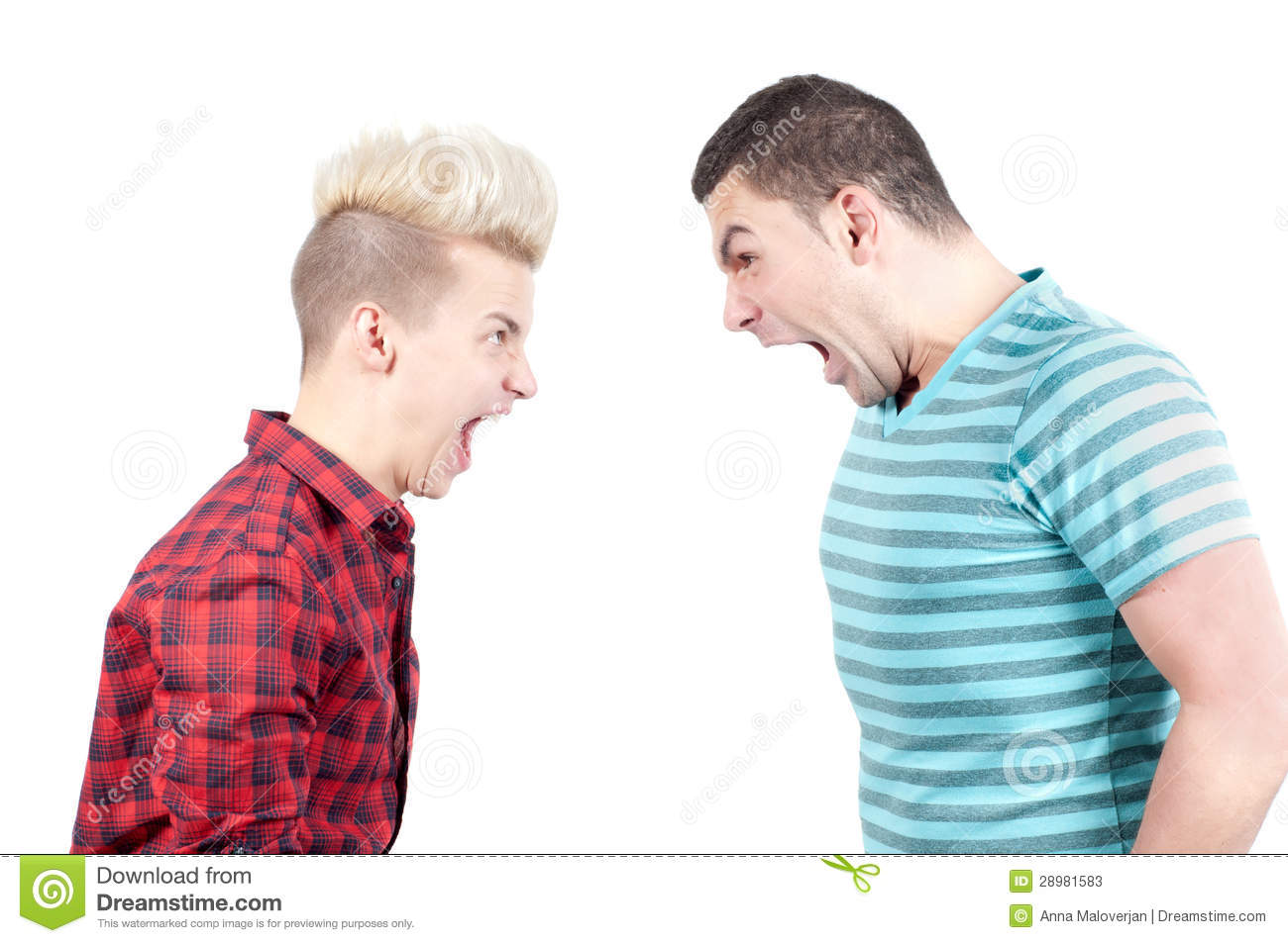 Two Man Screaming On Each Other Stock Photos - Image: 28981583