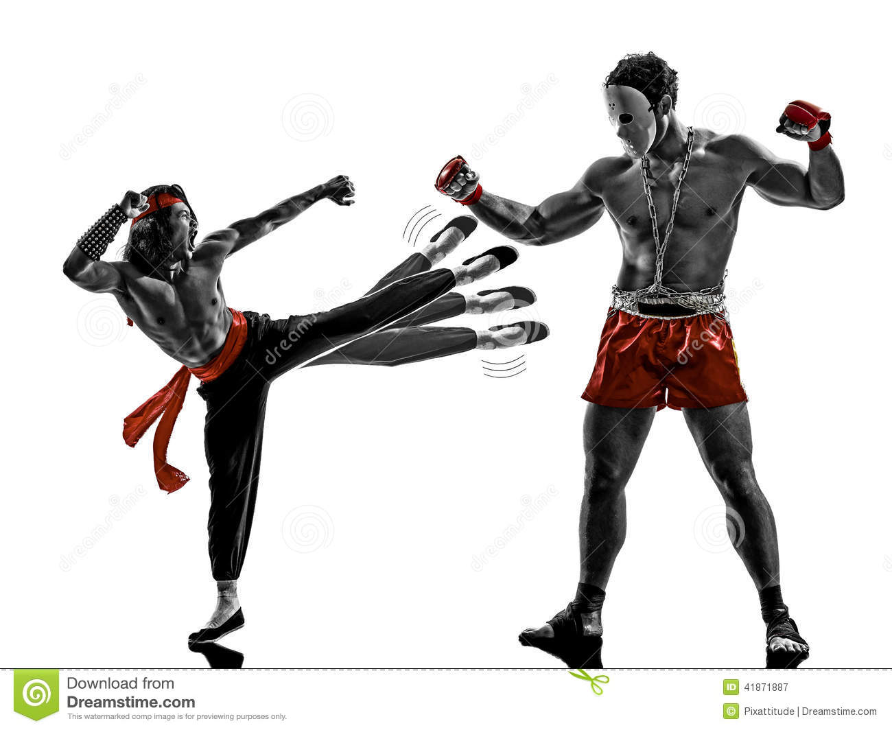 Two Manga Video Games Martial Arts Fighters Fighting Stock Image Image Of Shadows Backlit 41871887
