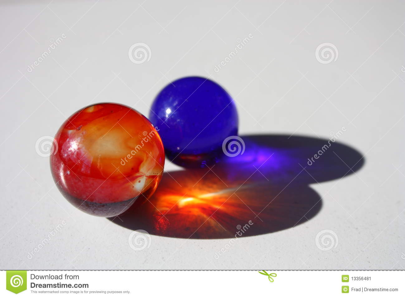 2 Red Marbles : Two marbles stock image