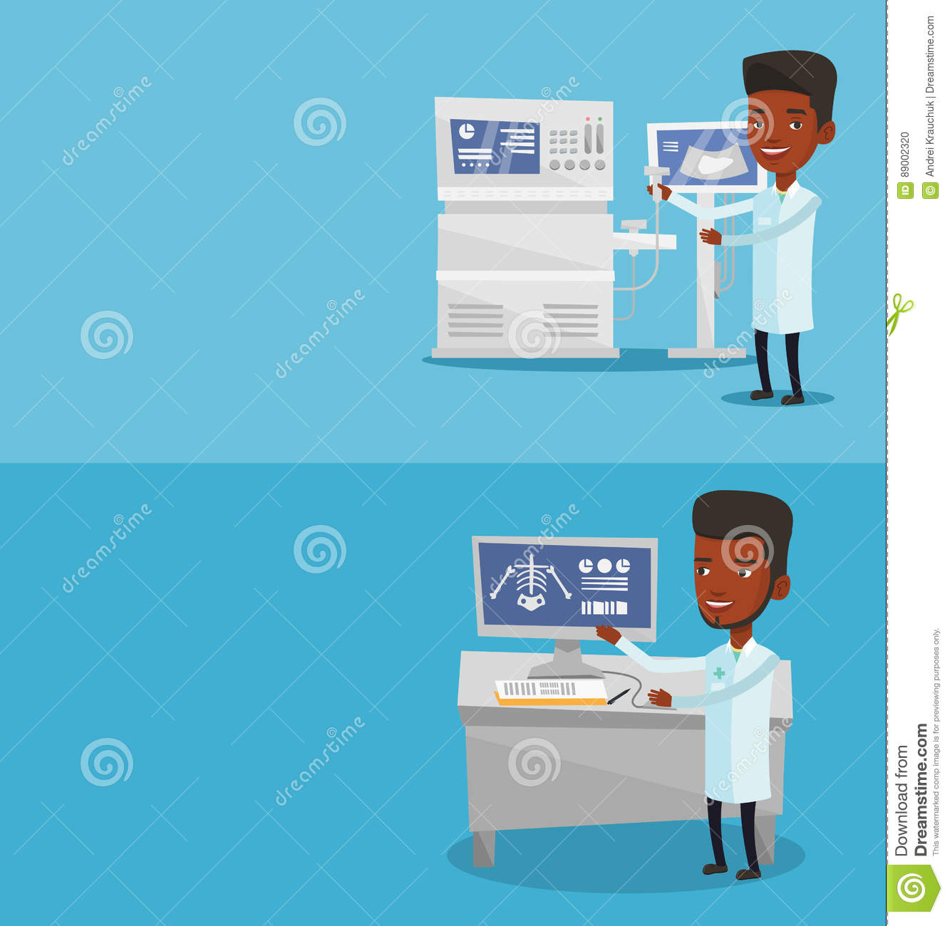Two Medical Banners With Space For Text  Stock Vector