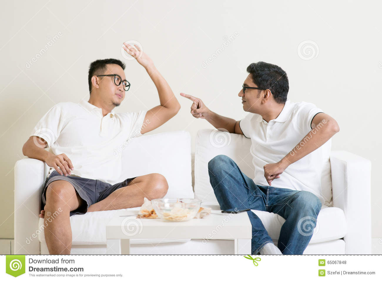 Two Men Arguing Stock Photo Image 65067848