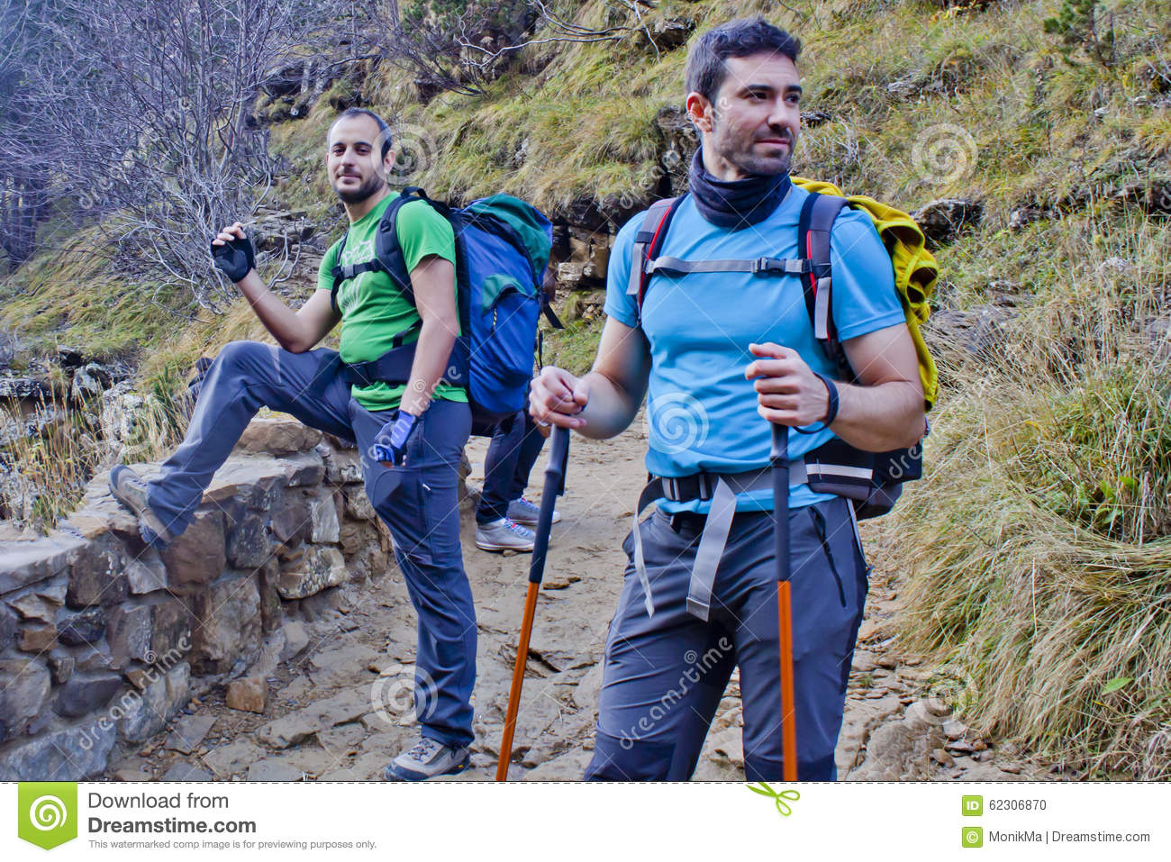 Two Men Hiking Royalty-Free Stock Photography ...