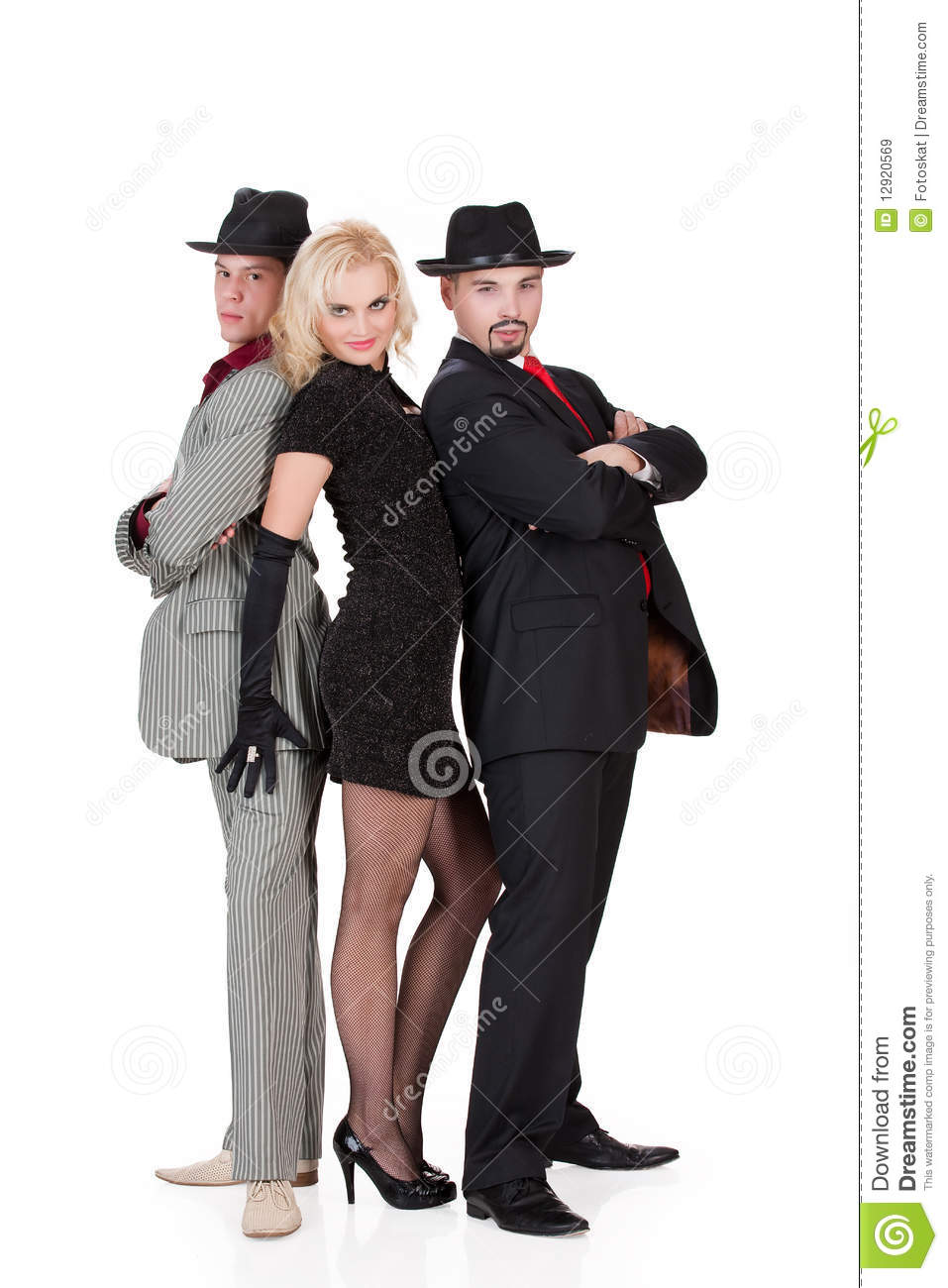 Two Men And Woman In Masquerade Clothing Stock Photography ...