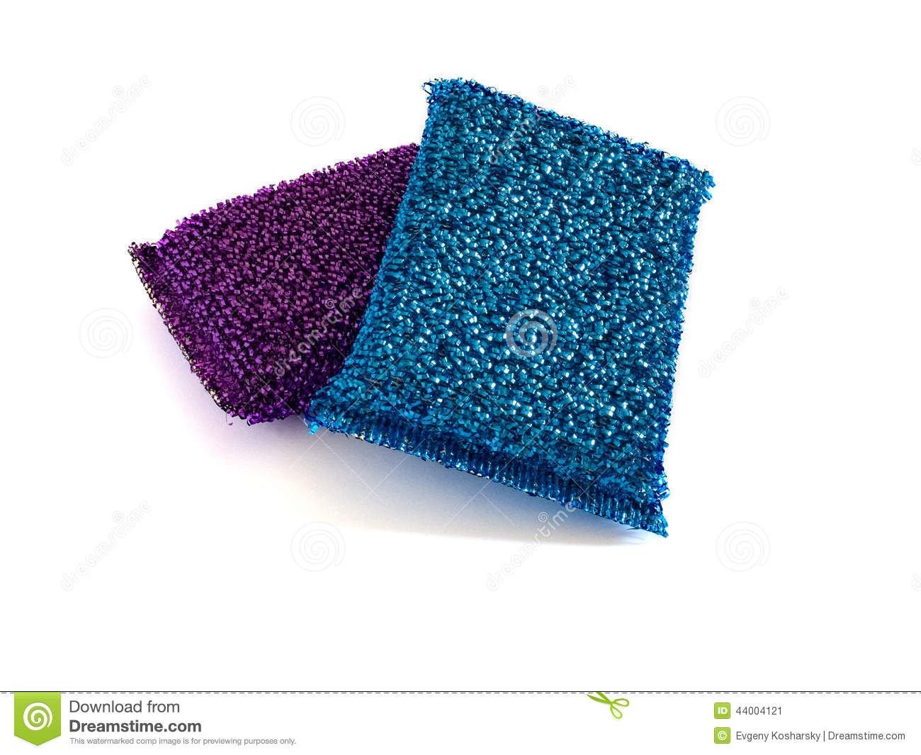 Two Metallic Kitchen Sponges Stock Photo Image 44004121