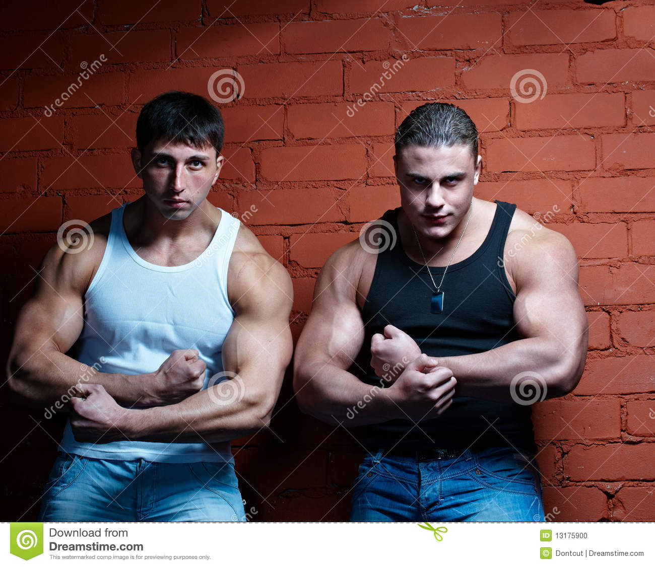 Two missive musclines males