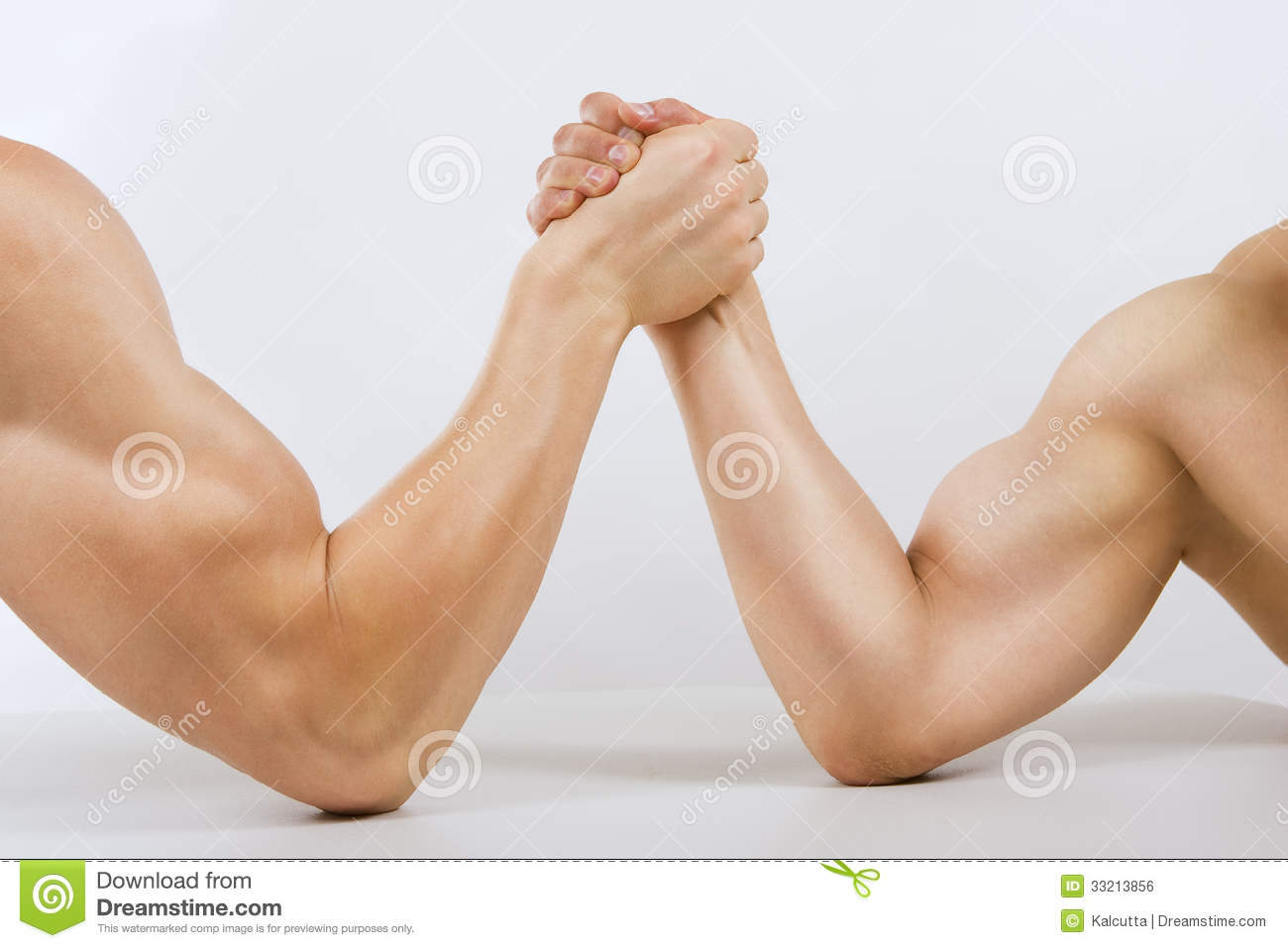 Two Muscular Hands Arm Wrestling Stock Photo - Image of ...