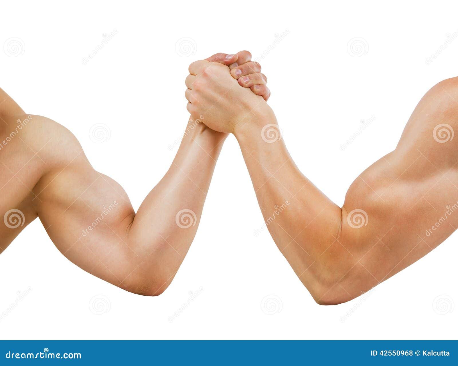 The right girls body builder arm wrestling