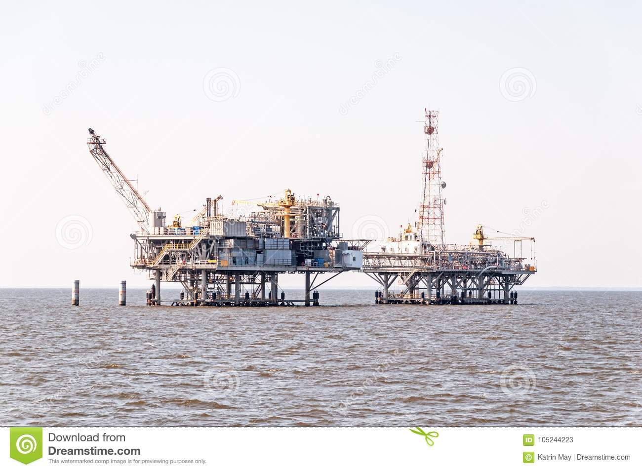 Two oil rigs under construction