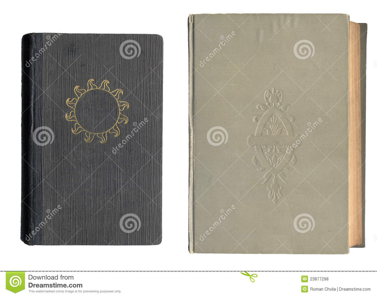 Book Cover Black Xs : Two old book covers royalty free stock photos image