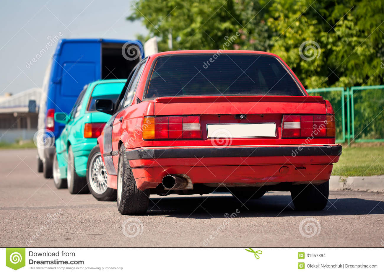 Two Old German Sport Cars Stock Photo Image Of Revival 31957894