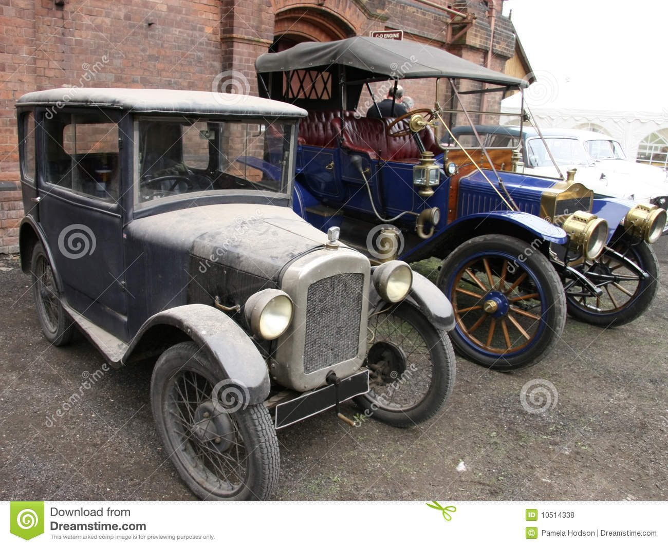 Two old vintage cars stock photo. Image of metallic, auto - 10514338