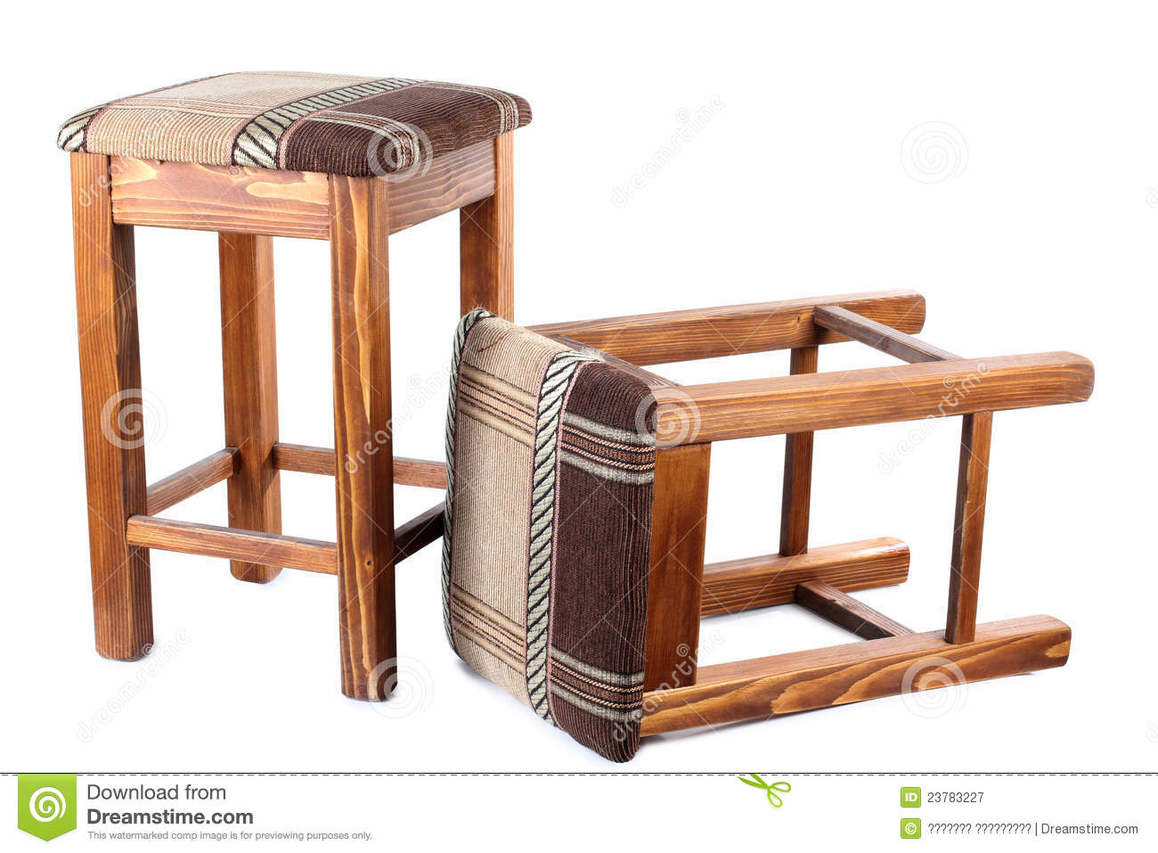 Wonderful image of Two Old Wooden Stool Royalty Free Stock Photography Image: 23783227 with #85A625 color and 1300x957 pixels