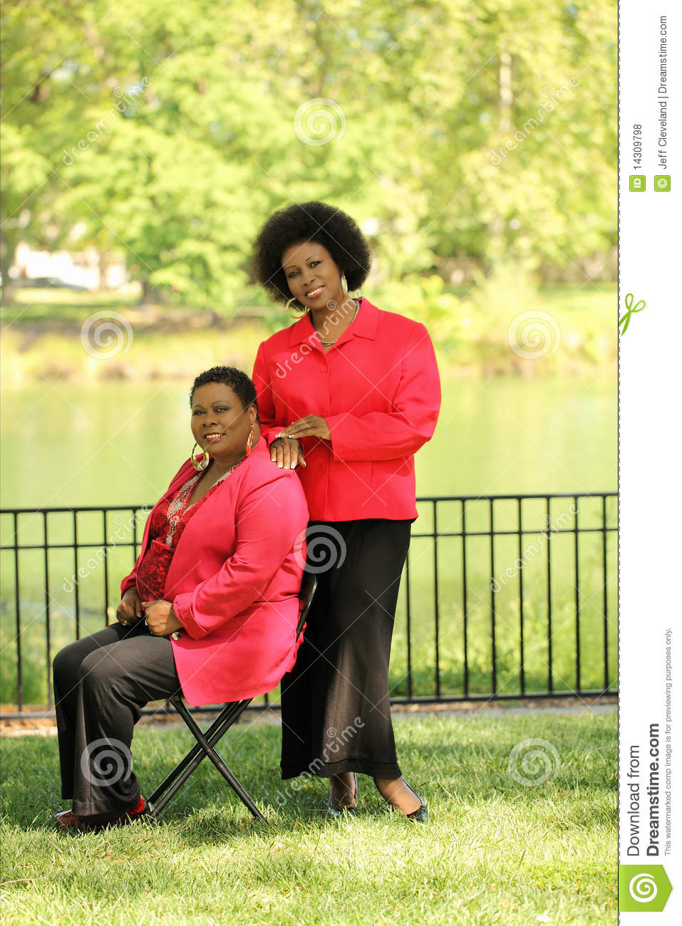 two older black women outdoors stock photo - image of friends, grass