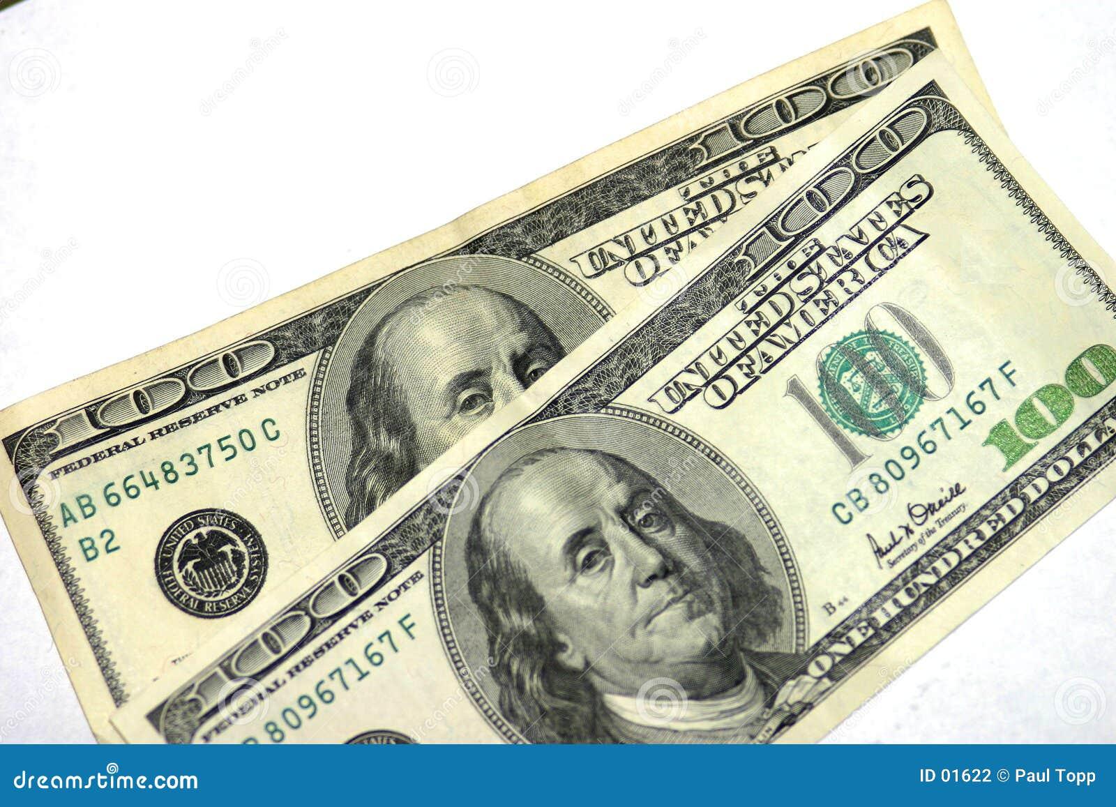 Two One Hundred Dollar Bills