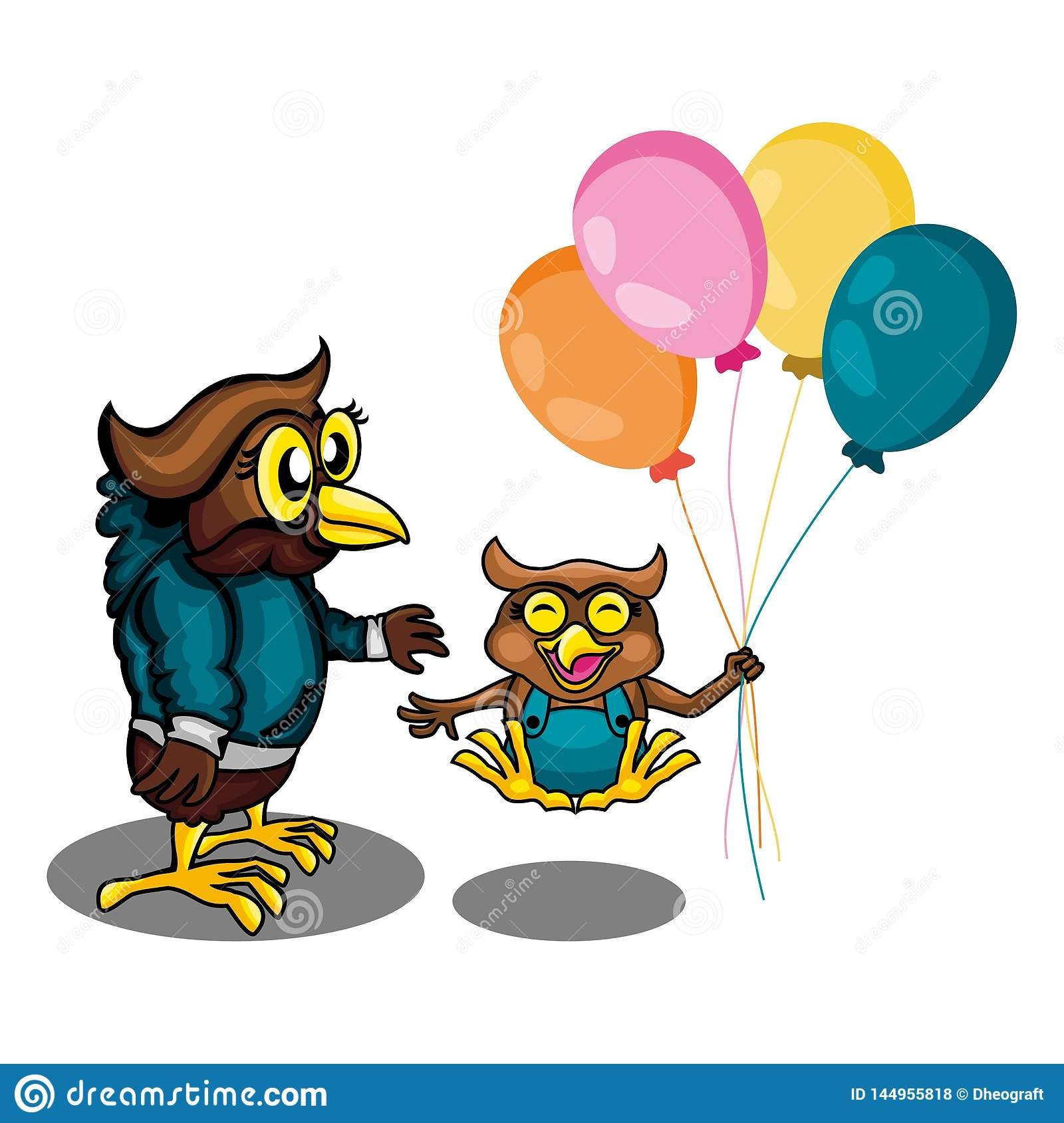 Two Owl Get Play Togather