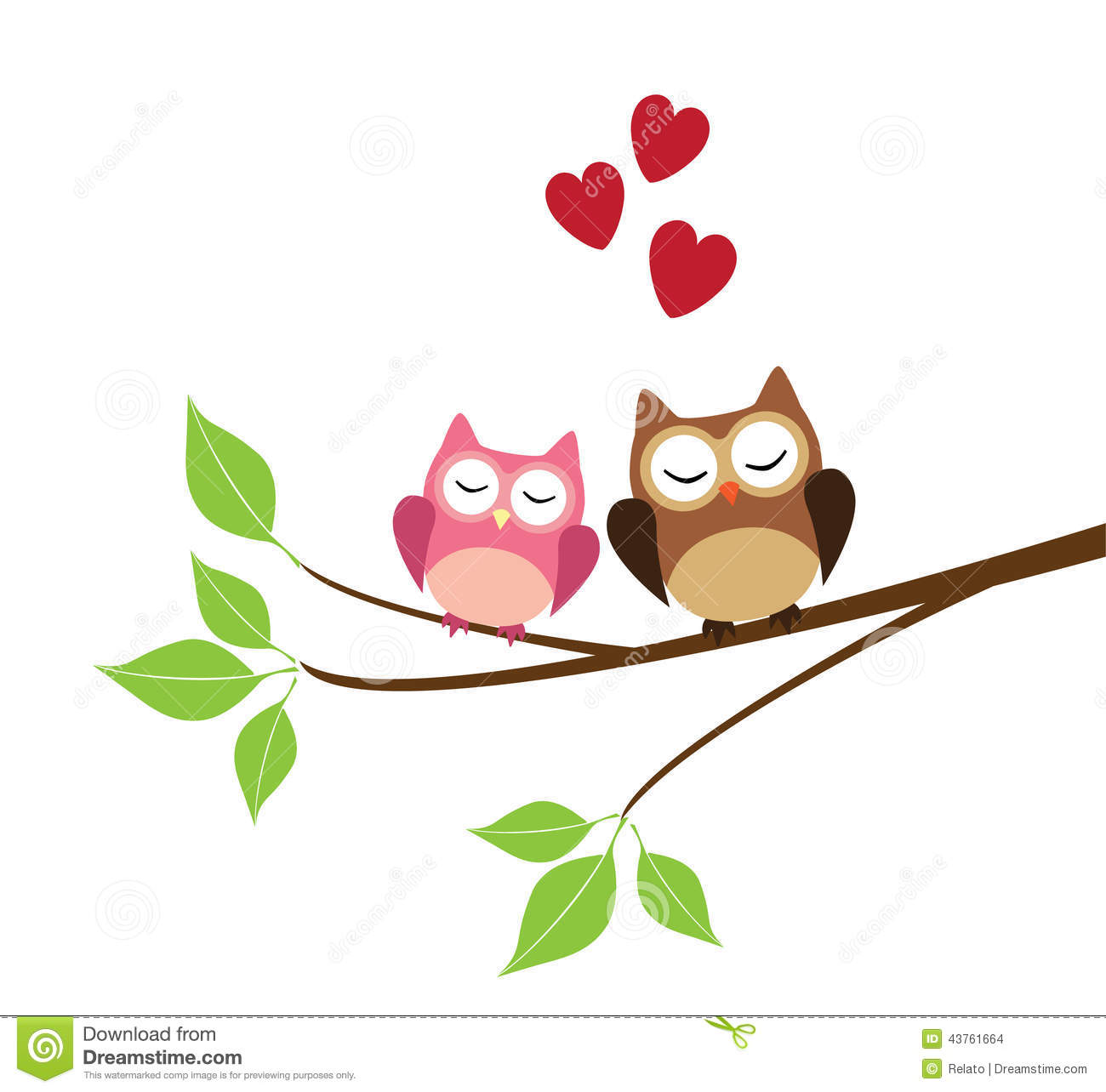 Two Owls stock vector. Illustration of family, vector ...