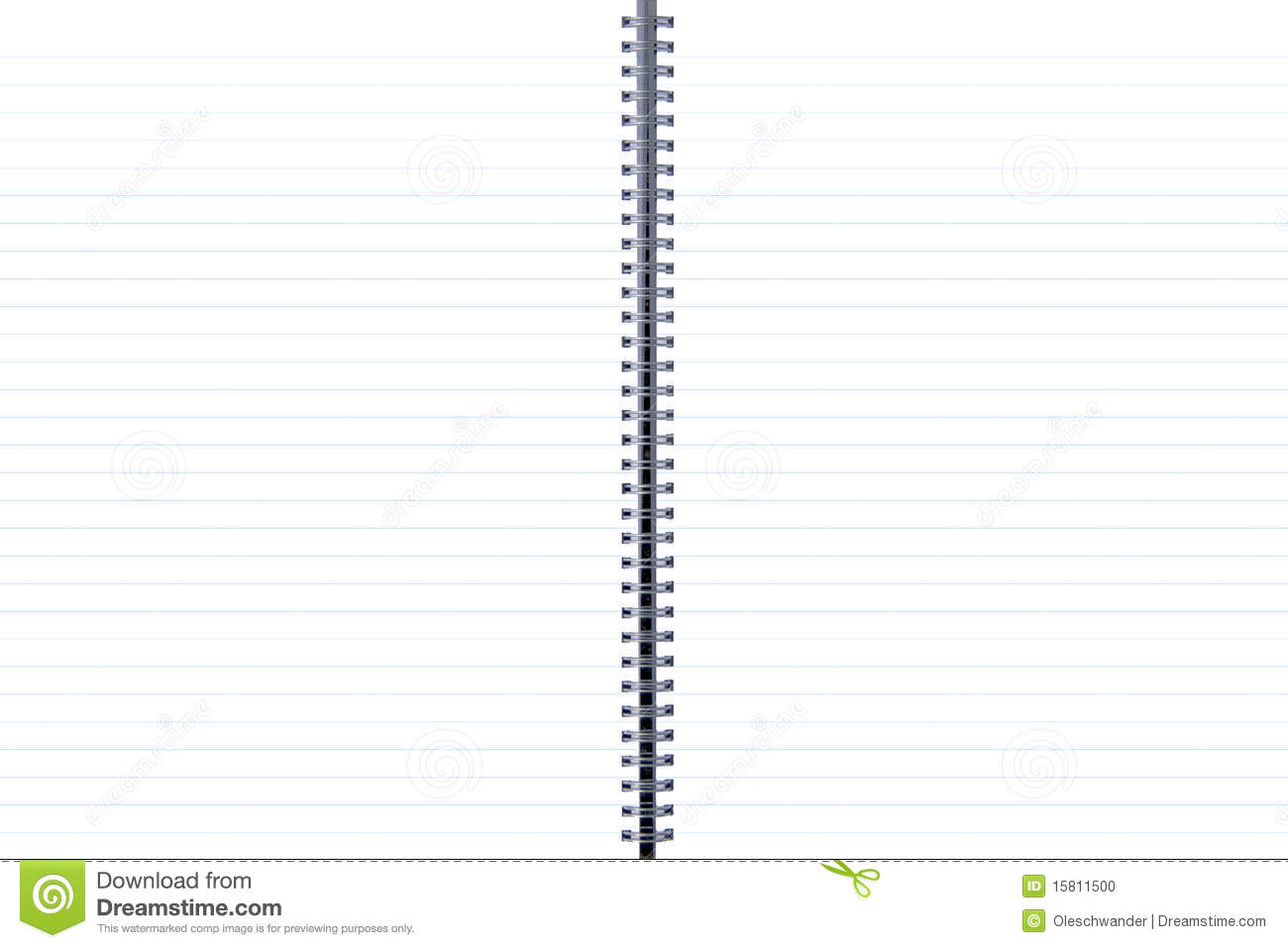 two-page blank pages with blue lines stock photo