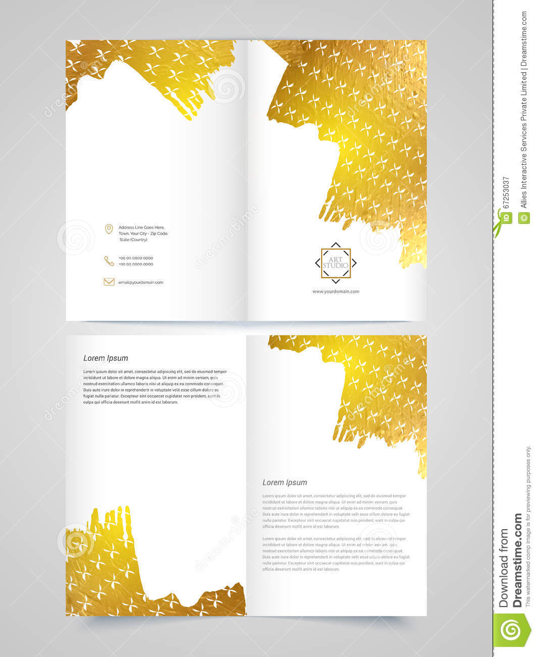 Two Page Brochure Template Or Flyer For Business RoyaltyFree - Two page brochure template
