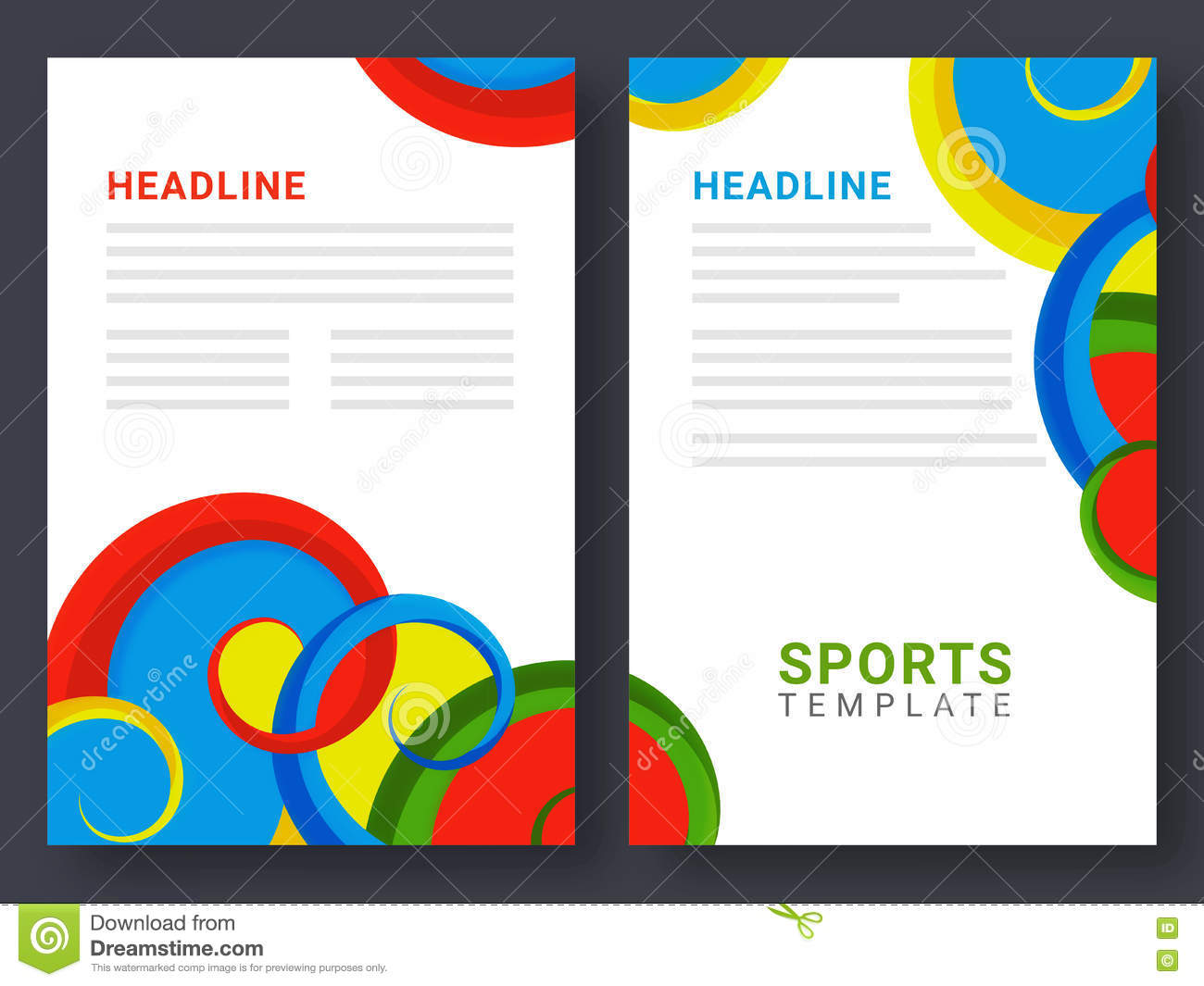 sports brochure templates - two page brochure template for sports concept stock