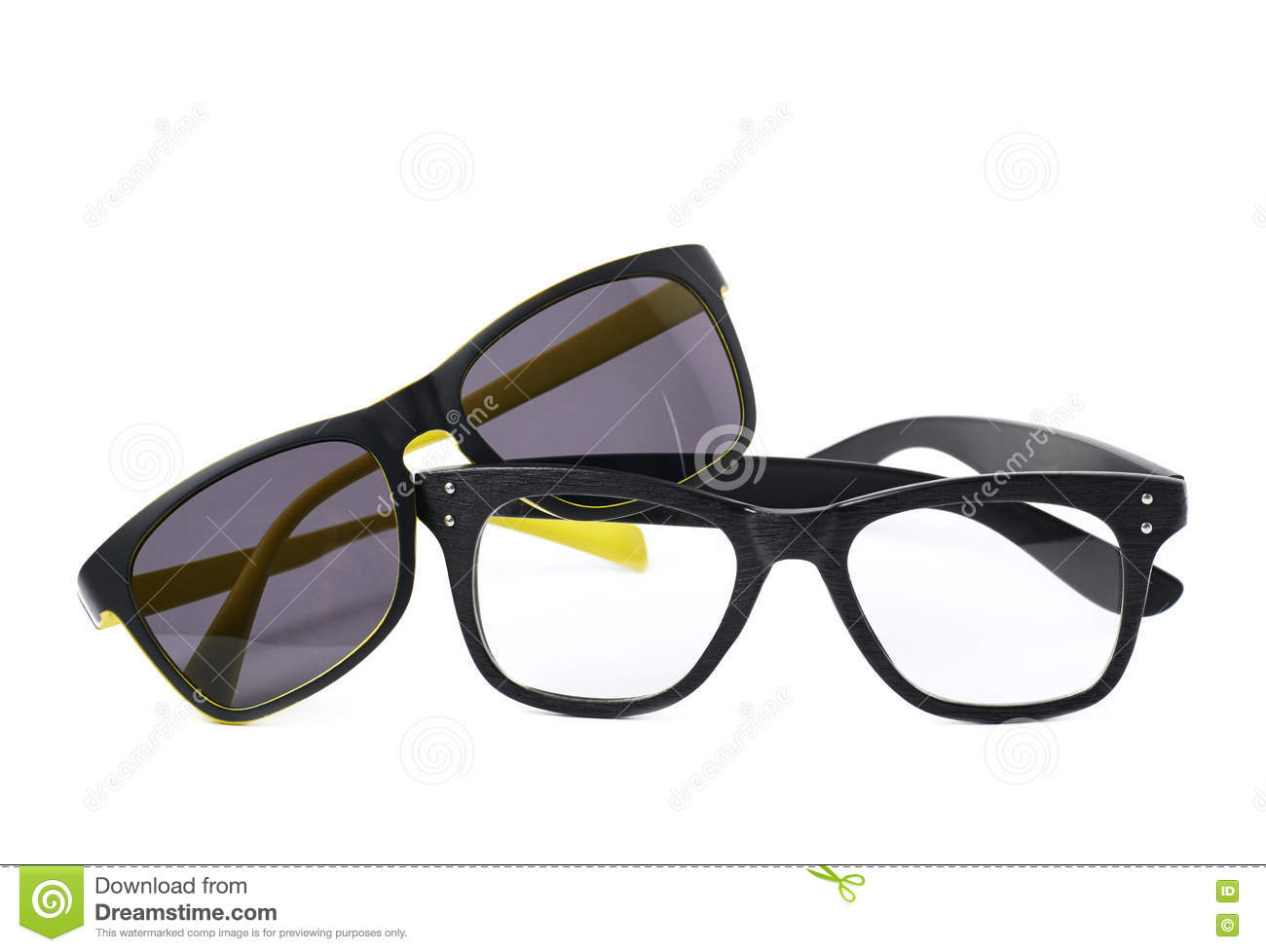 2db1166b304 Two Pairs Of Glasses Isolated Stock Photo - Image of shade