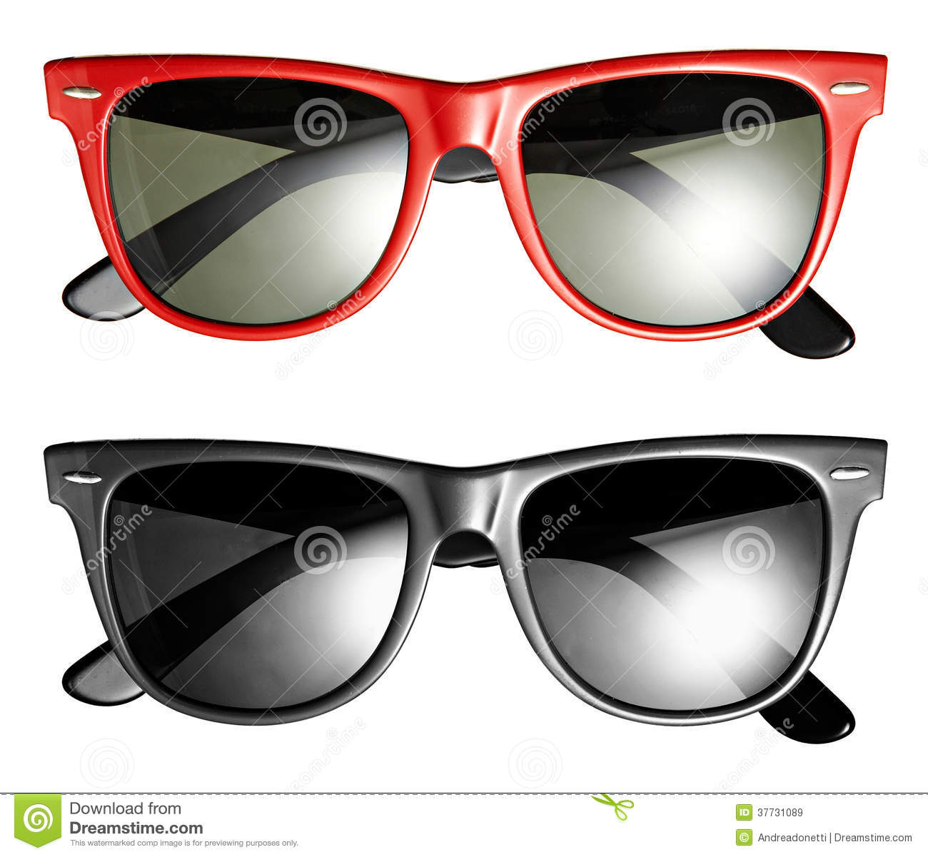 a0a93ec32abf Two Pairs Of Modern Trendy Sunglasses Stock Image - Image of glasses ...