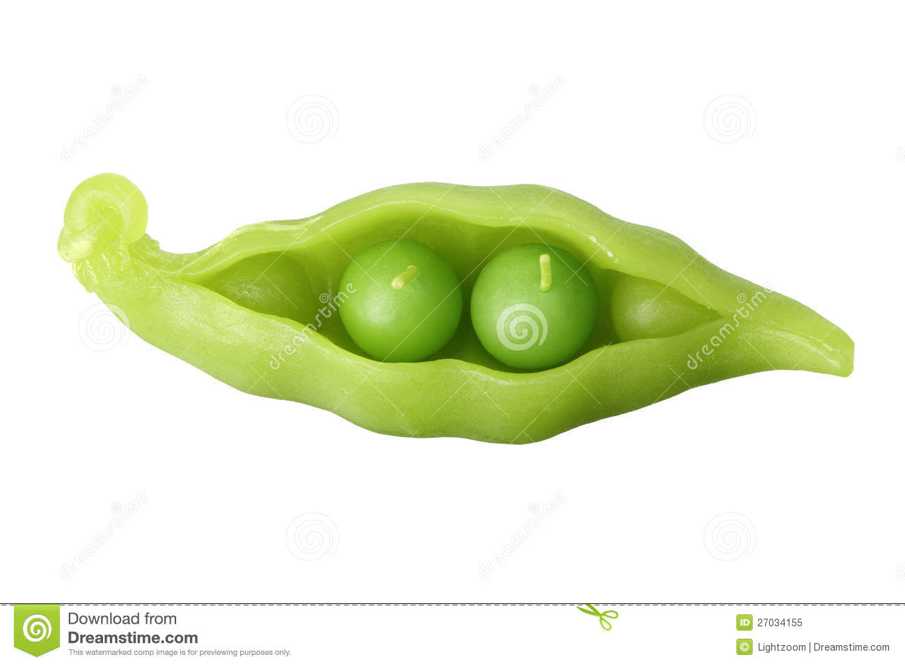 Two Peas In Pod Candle Stock Image Image Of Life Seeds 27034155
