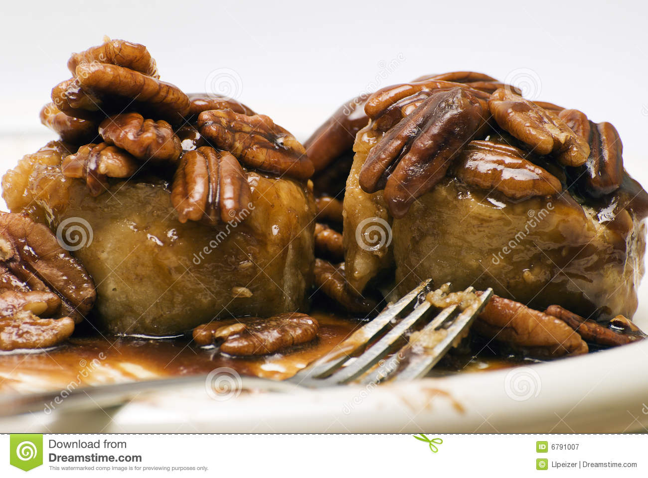 Download Two Pecan Sticky Buns stock image. Image of delicious - 6791007
